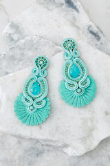 2 Know Yourself Turquoise Statement Earrings at reddressboutique.com