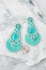 3 Know Yourself Turquoise Statement Earrings at reddressboutique.com