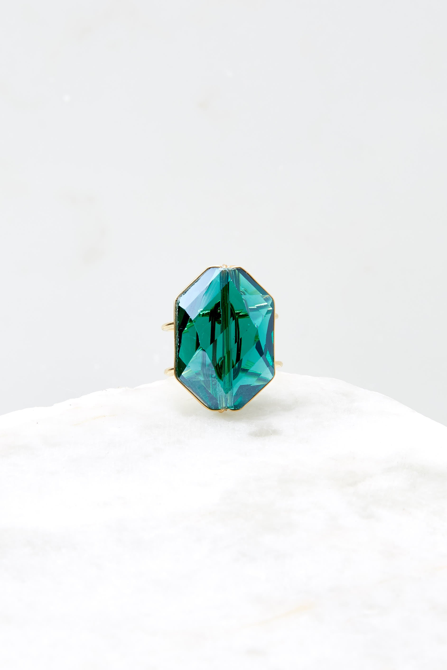 3 Flawless Victory Emerald Ring at reddressboutique.com