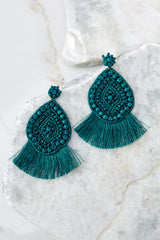 2 A World Away Teal Green Earrings at reddressboutique.com