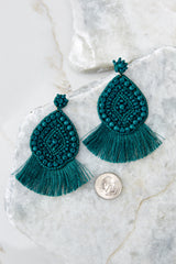 3 A World Away Teal Green Earrings at reddressboutique.com