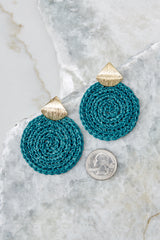 3 Another Kind Of Love Dark Turquoise Earrings at reddressboutique.com