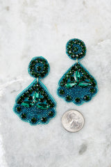 3 Everything You Want Dark Teal Earrings at reddressboutique.com