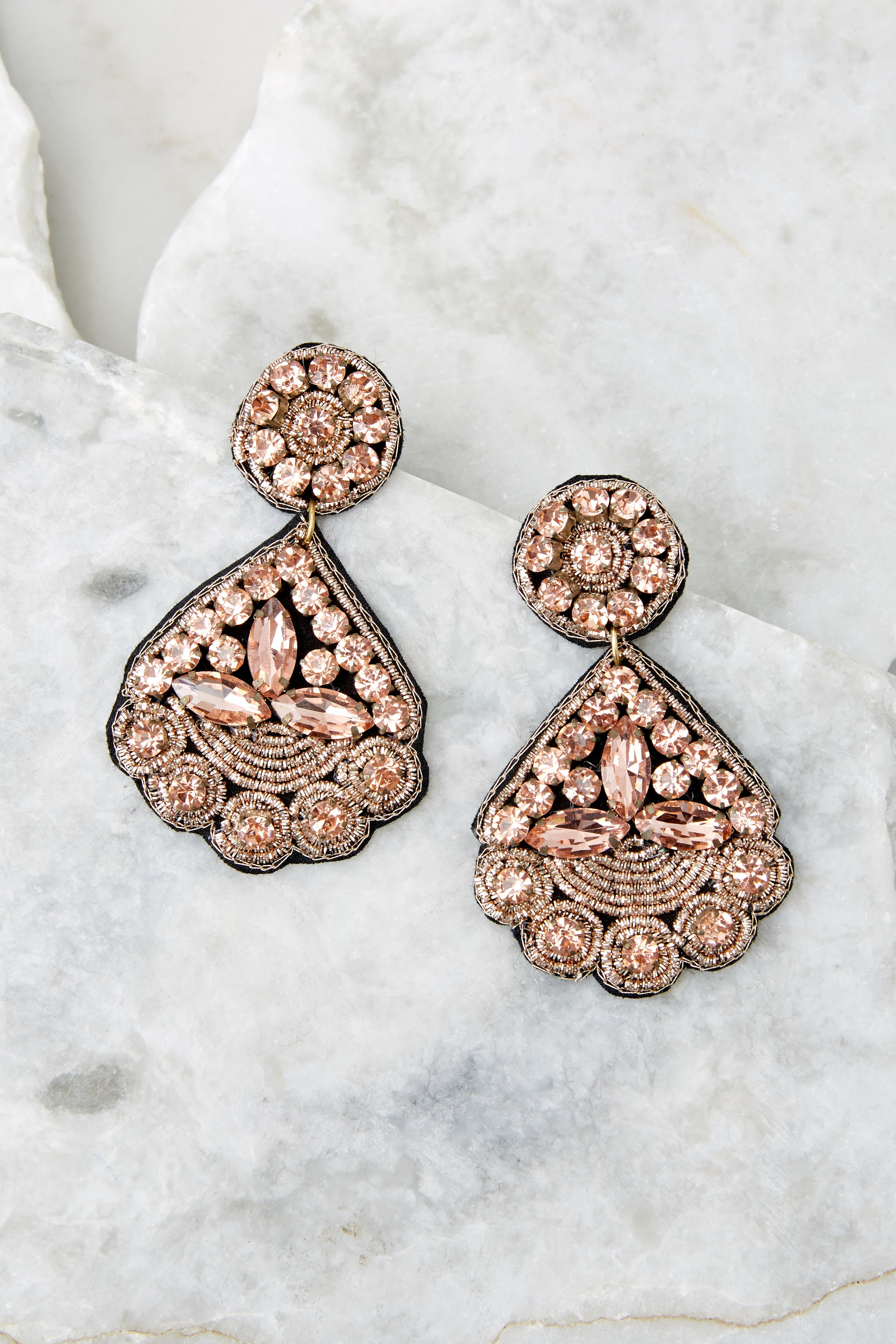 2 Everything You Want Light Pink Earrings at reddress.com