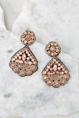 2 Everything You Want Light Pink Earrings at reddressboutique.com