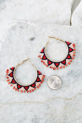 3 Point Made Red Multi Earrings at reddressboutique.com