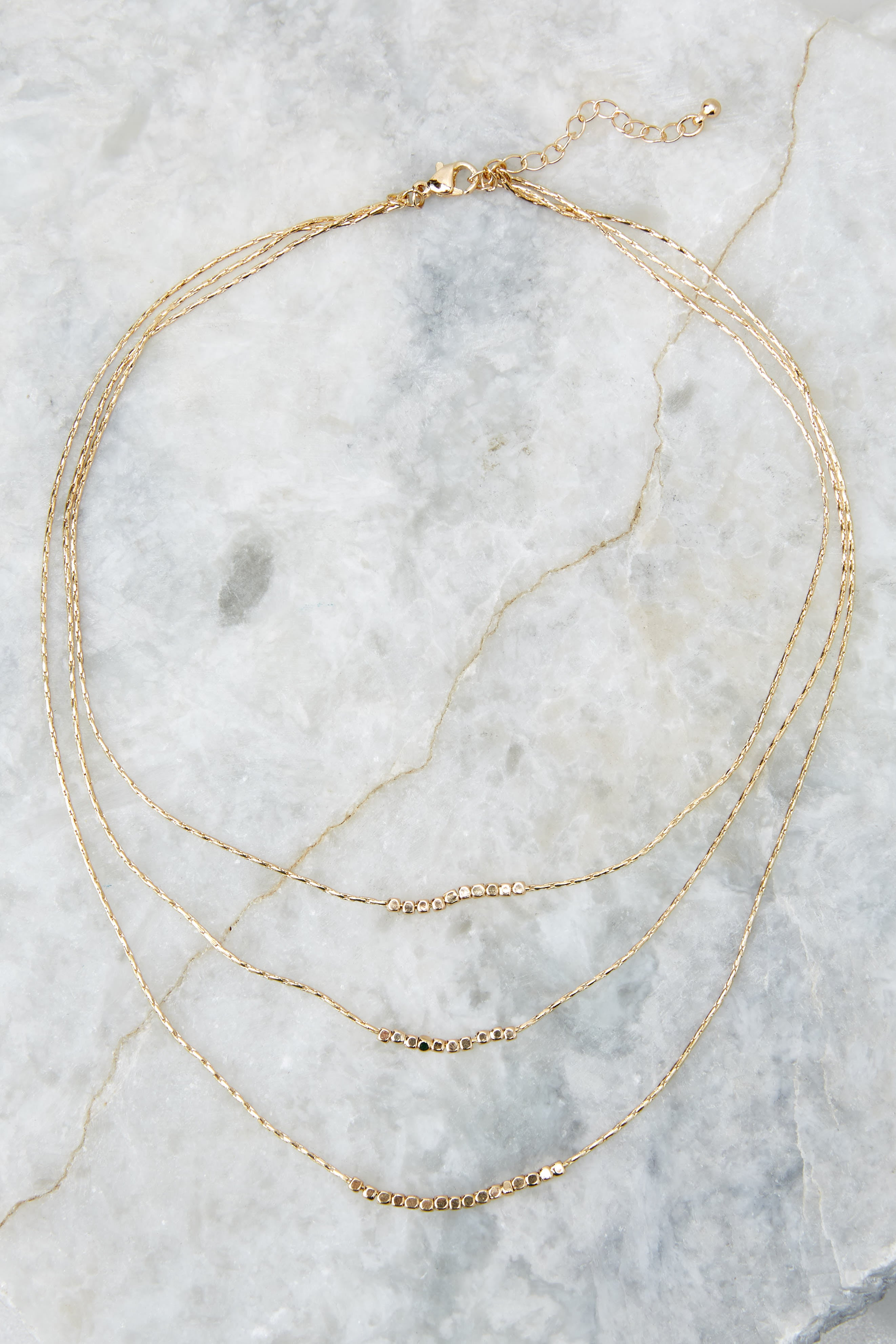 Call It Out Gold Necklace