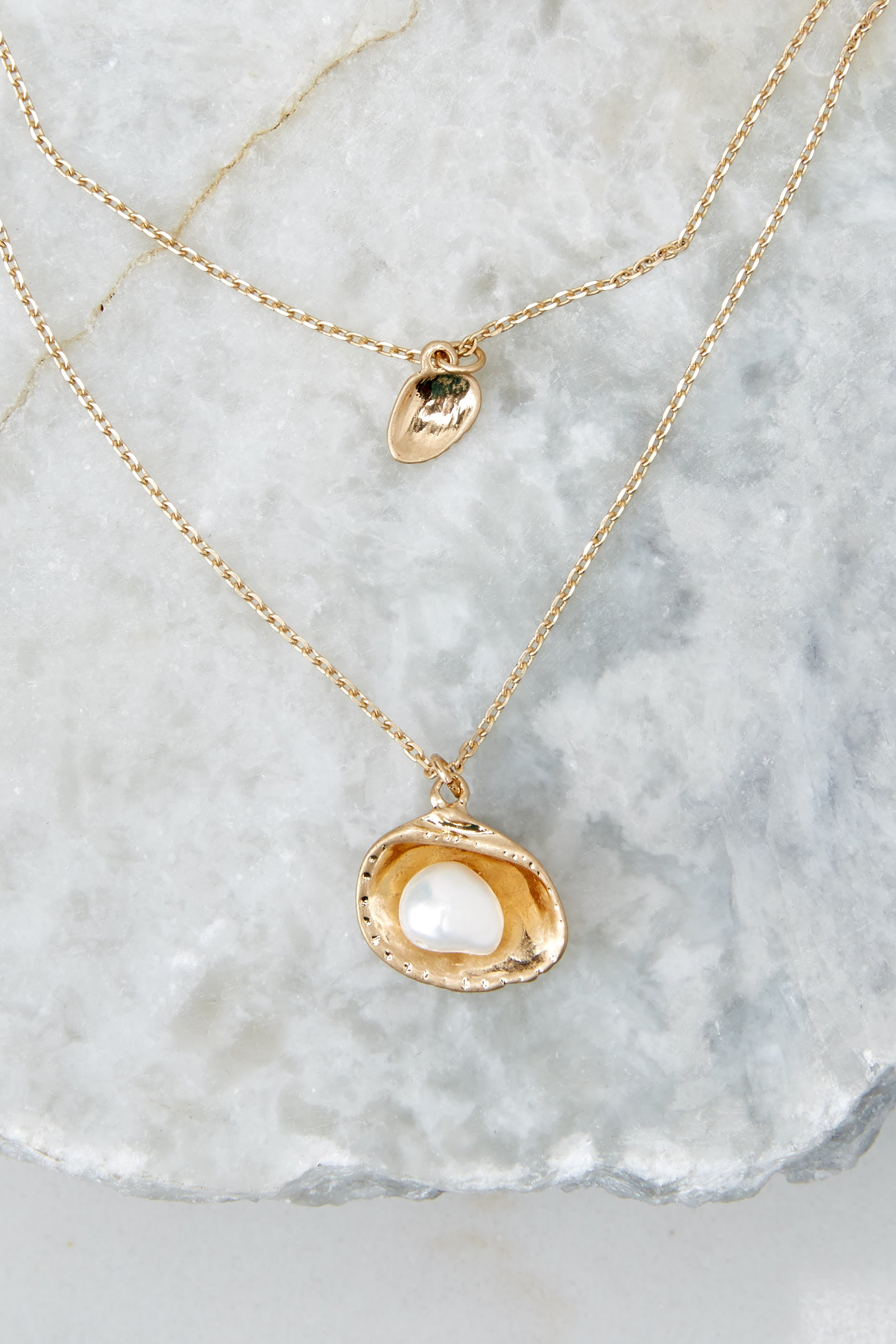 Hard Shell Gold Necklace