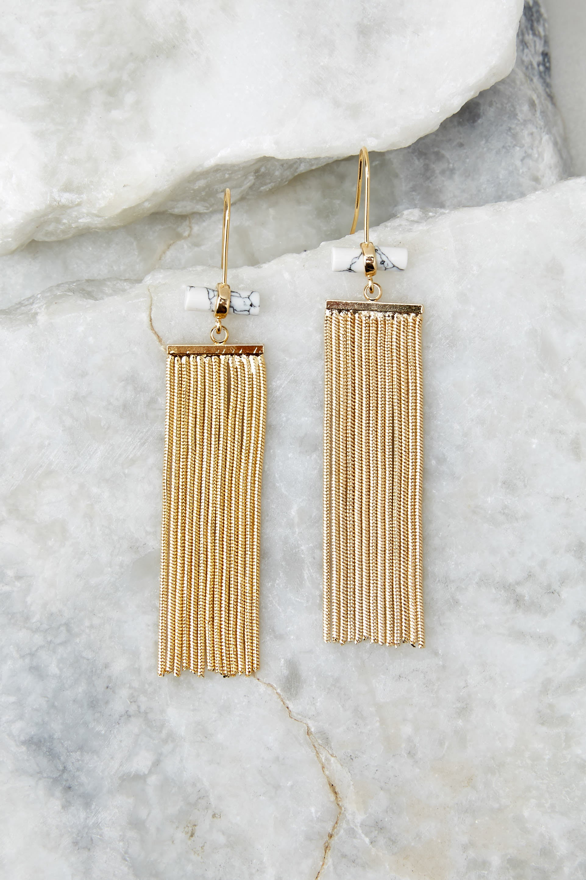 3 Celestial Marble And Gold Earrings at reddress.com