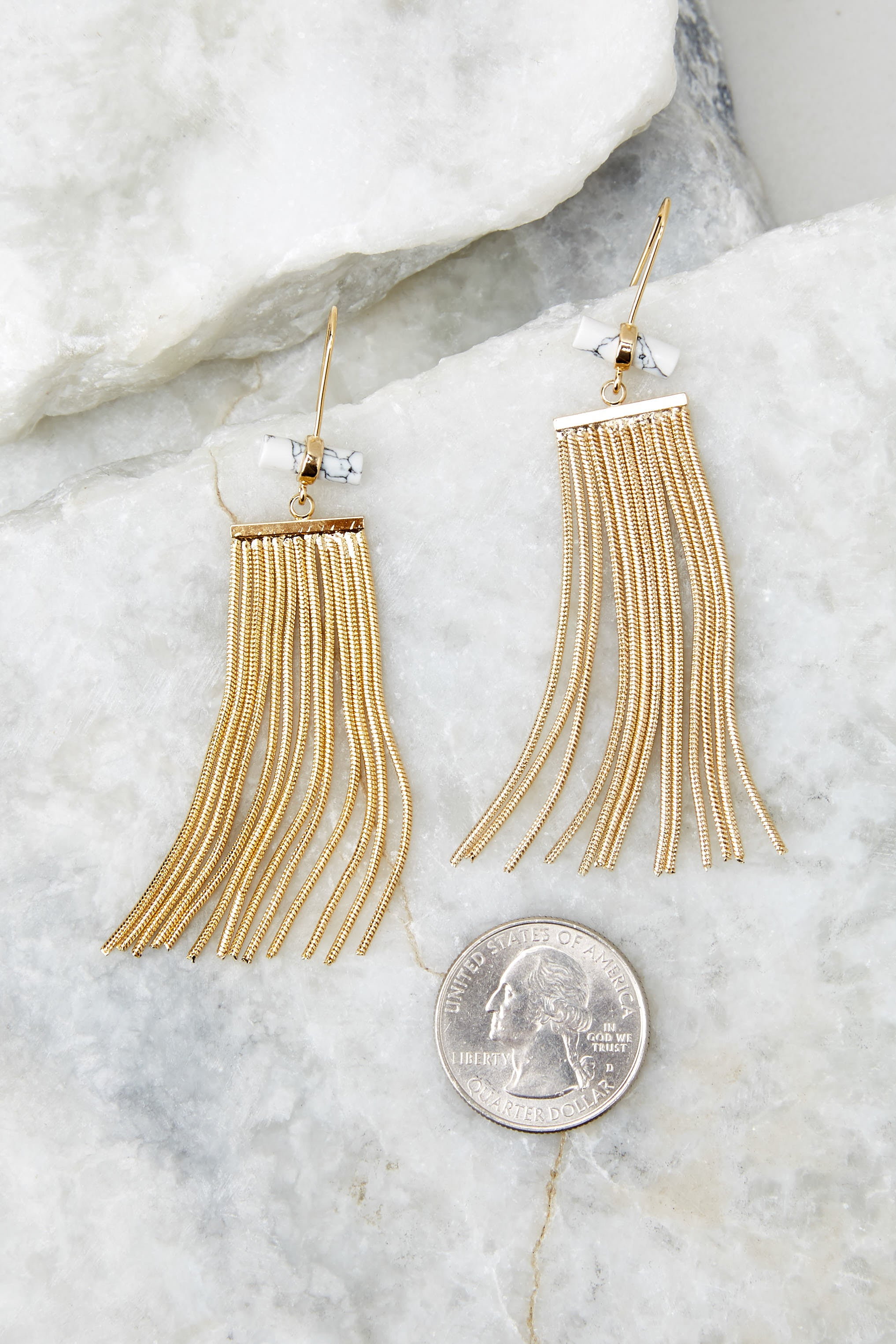 4 Celestial Marble And Gold Earrings at reddressboutique.com