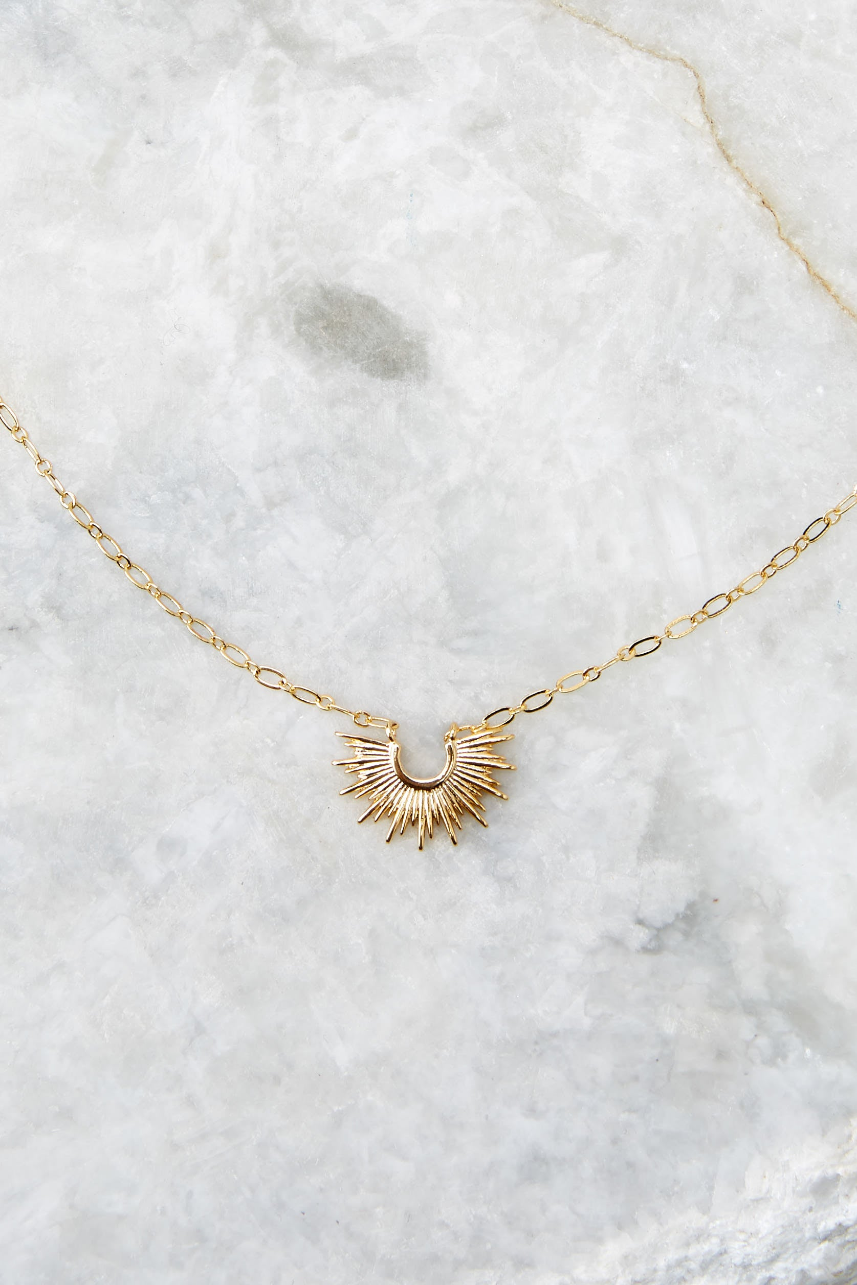 3 Mini Blaze Gold Necklace at reddress.com