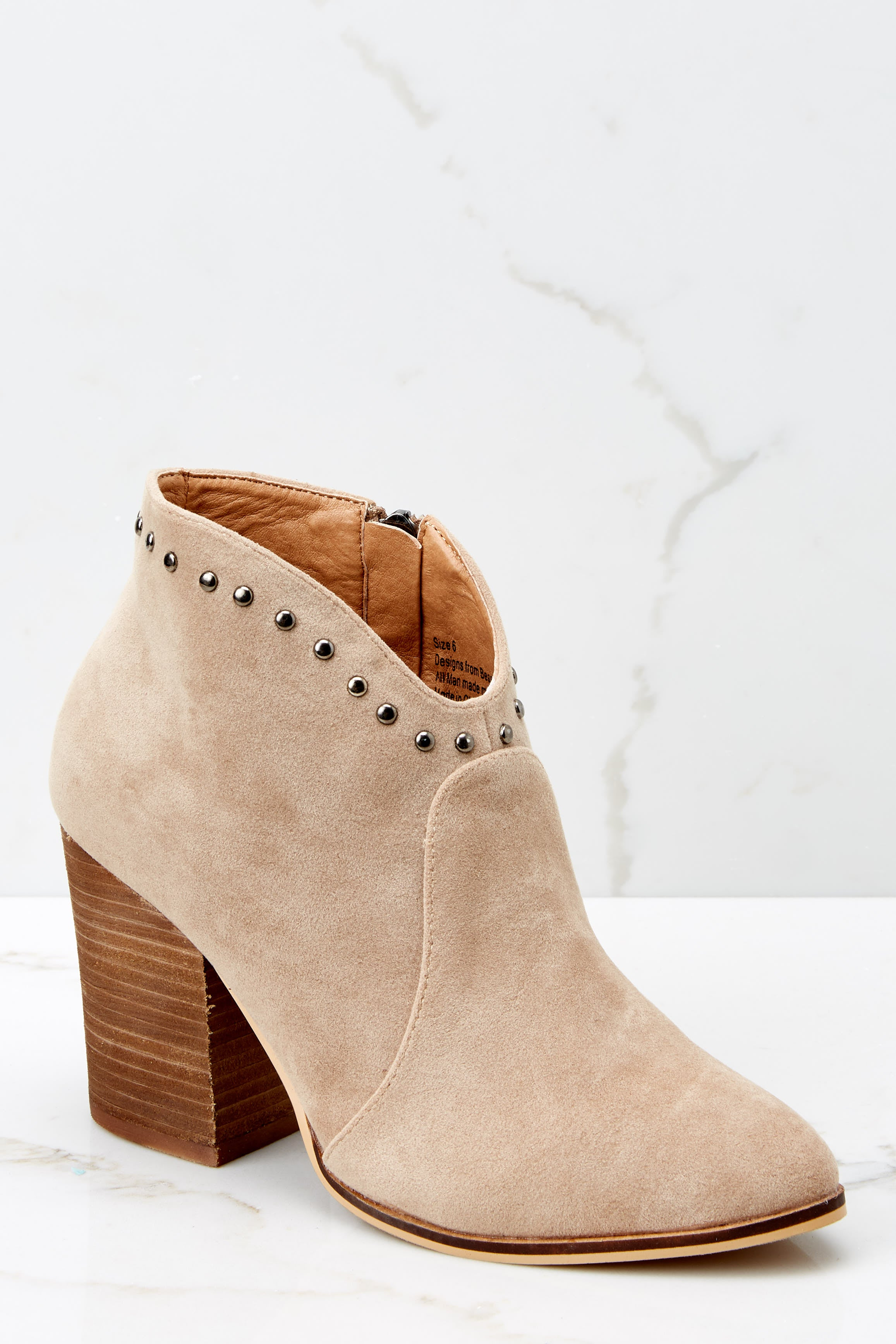 2 Wander Through Aspens Sand Beige Booties at reddressboutique.com