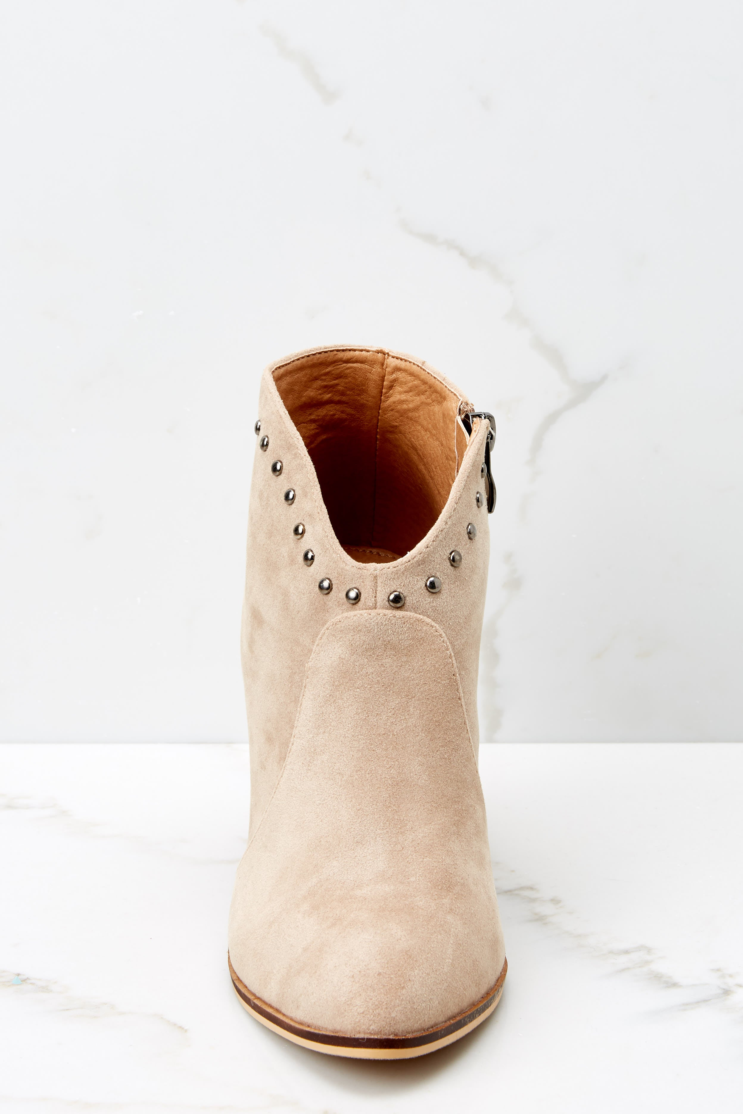 3 Wander Through Aspens Sand Beige Booties at reddressboutique.com