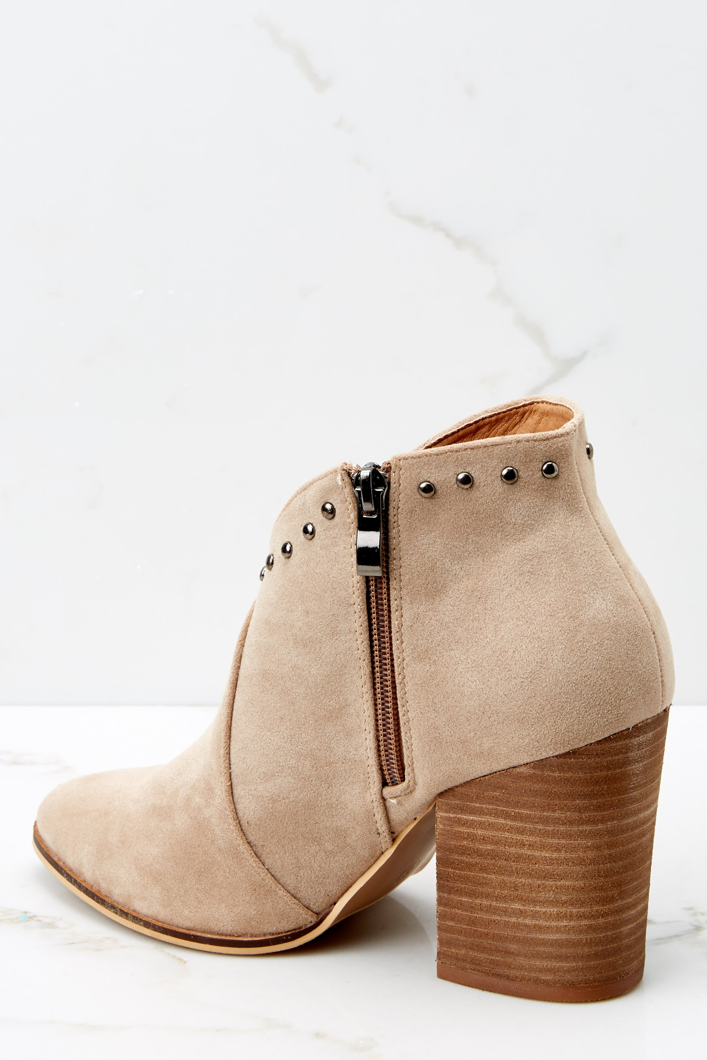 4 Wander Through Aspens Sand Beige Booties at reddressboutique.com
