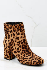 1 Must Be Famous Leopard Ankle Booties at reddressboutique.com