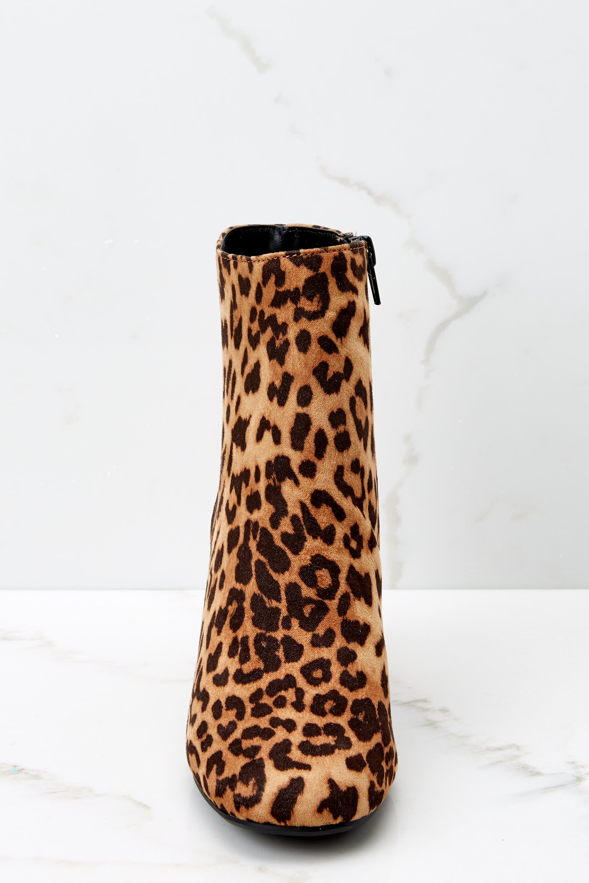2 Must Be Famous Leopard Ankle Booties at reddressboutique.com