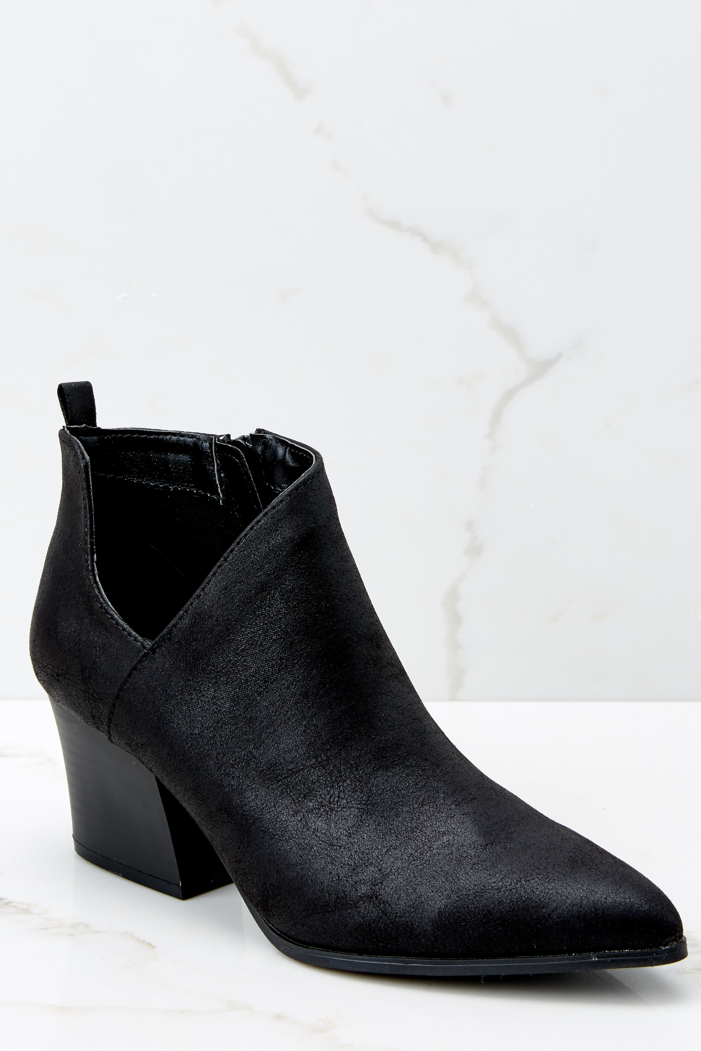 1 From The Valley Black Ankle Booties at reddressboutique.com