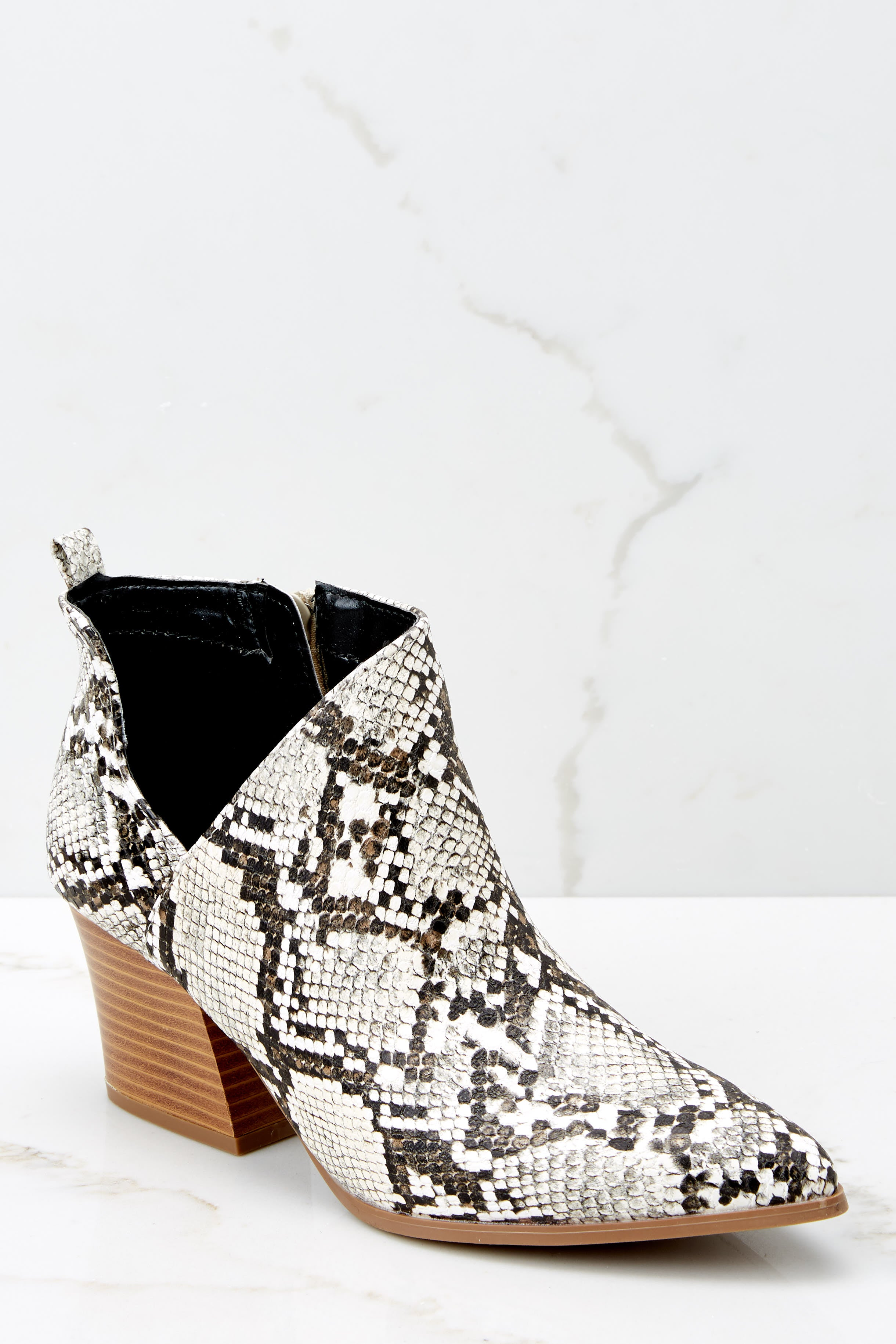 1 From The Valley Snakeskin Ankle Booties at reddressboutique.com