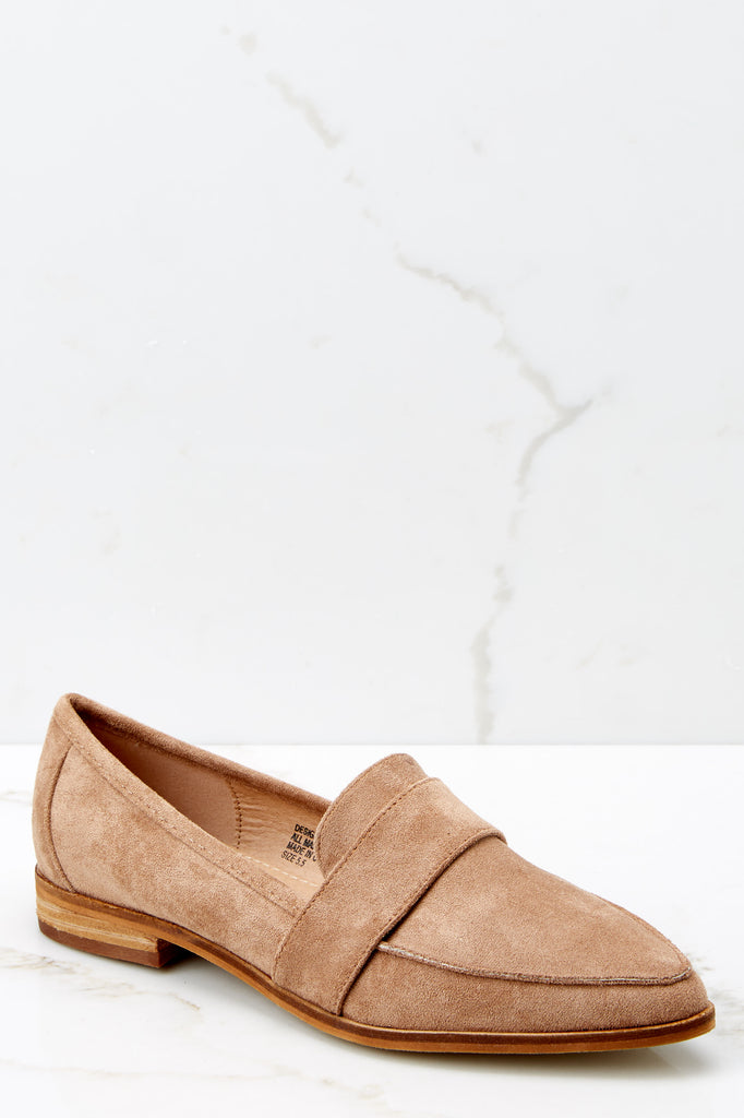 4 Classic Moves Natural Slip On Loafers at reddressboutique.com