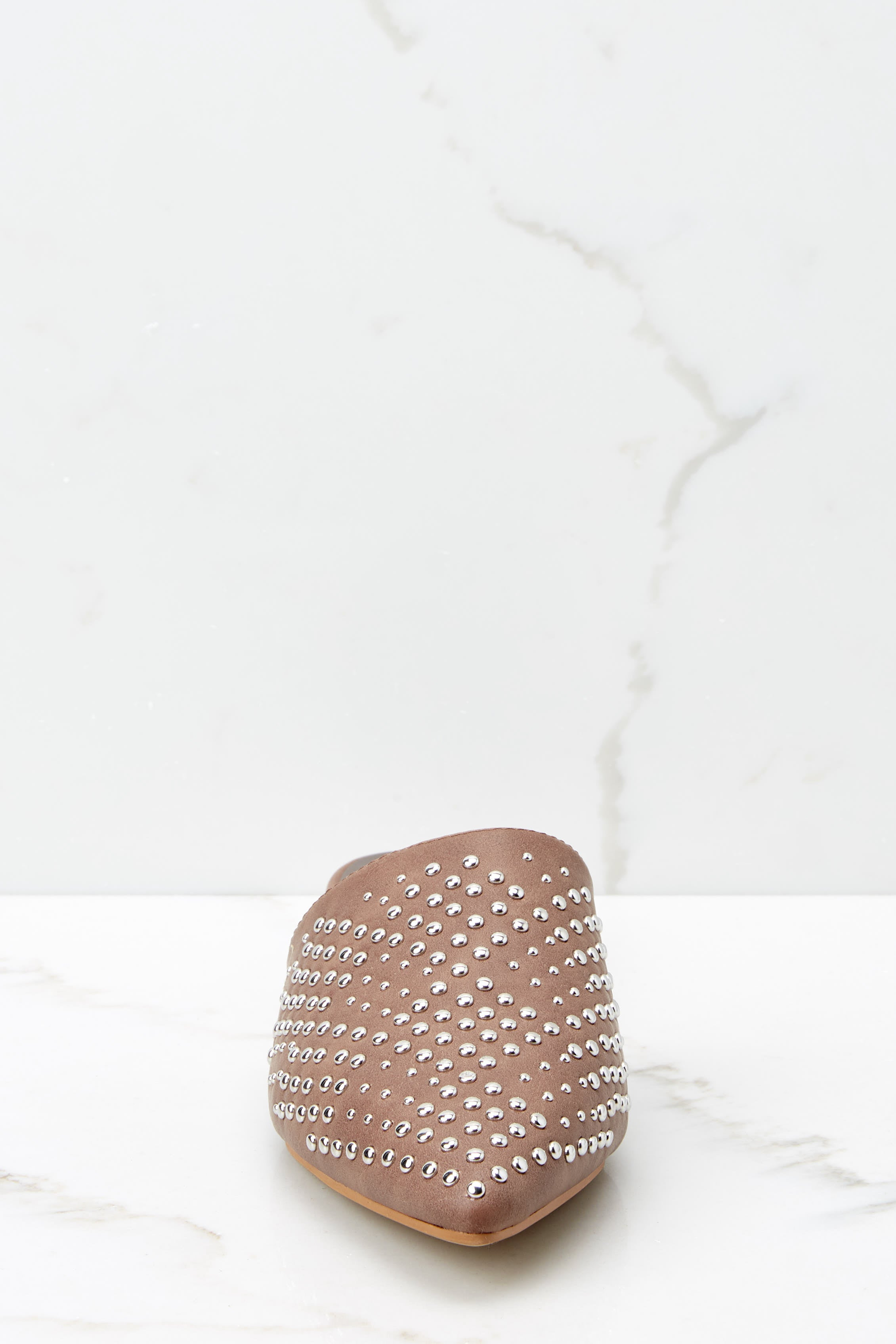 2 Casual Escapade Brown Studded Mules at reddressboutique.com