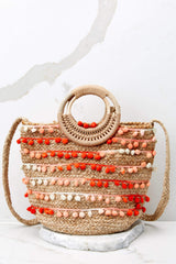 3 Infinite Options Pink Multi Pom Pom Handbag at reddress.com