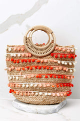 4 Infinite Options Pink Multi Pom Pom Handbag at reddress.com