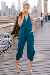 8 Close Enough Dark Teal Jumpsuit at reddressboutique.com