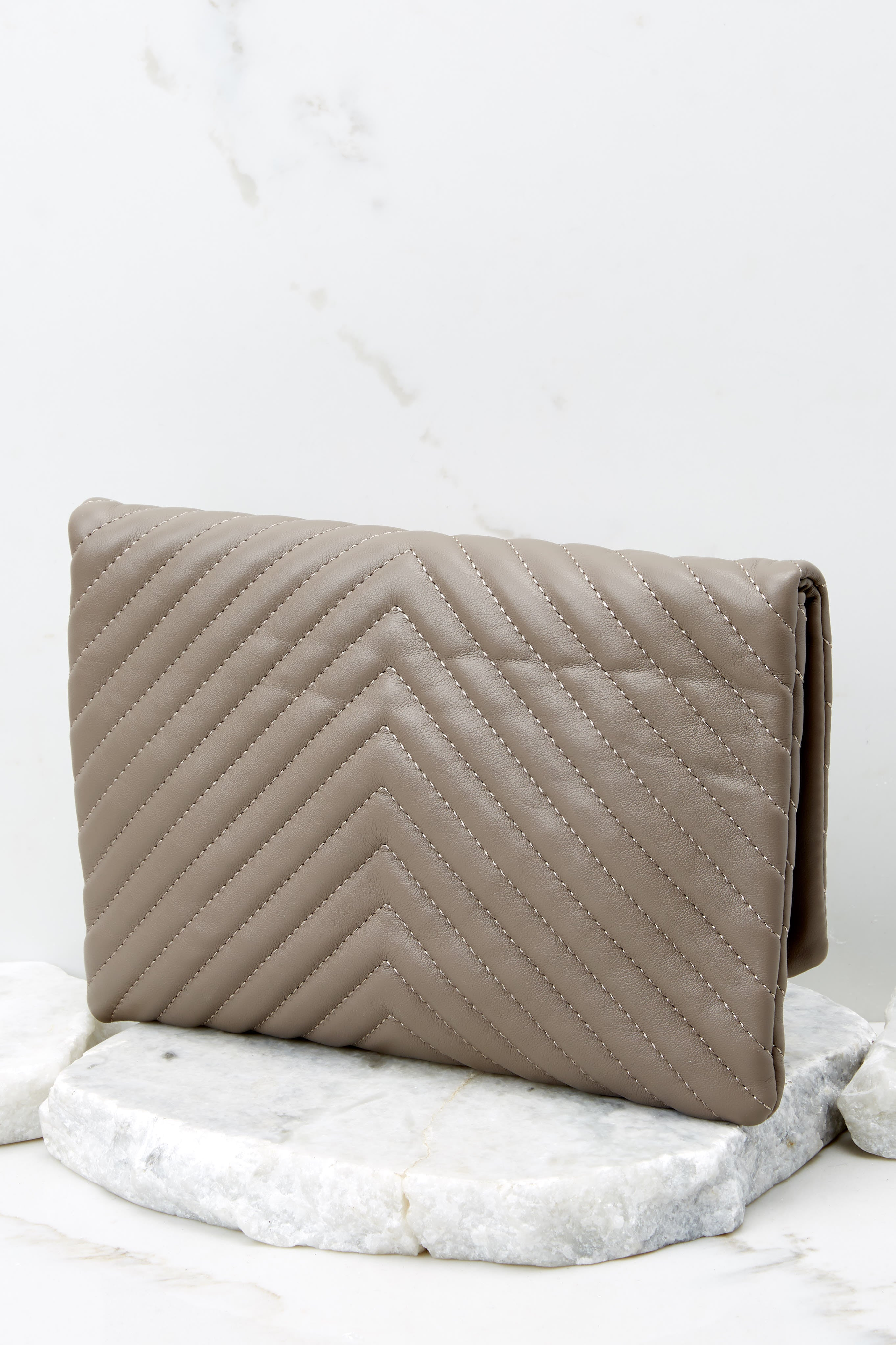 4 In Line With Style Ash Grey Clutch at reddress.com