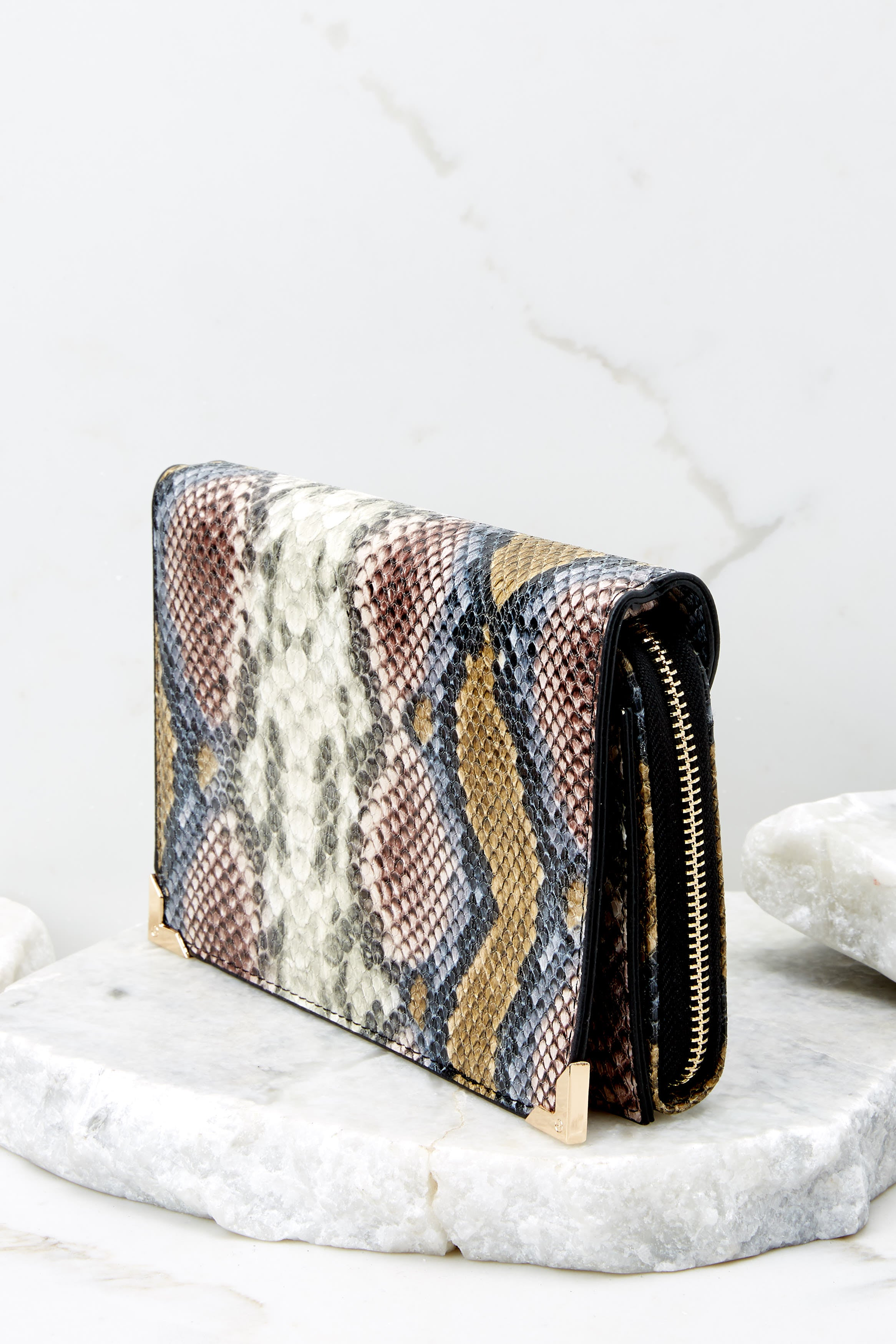 4 Read Into This Snake Print Purse at reddressboutique.com