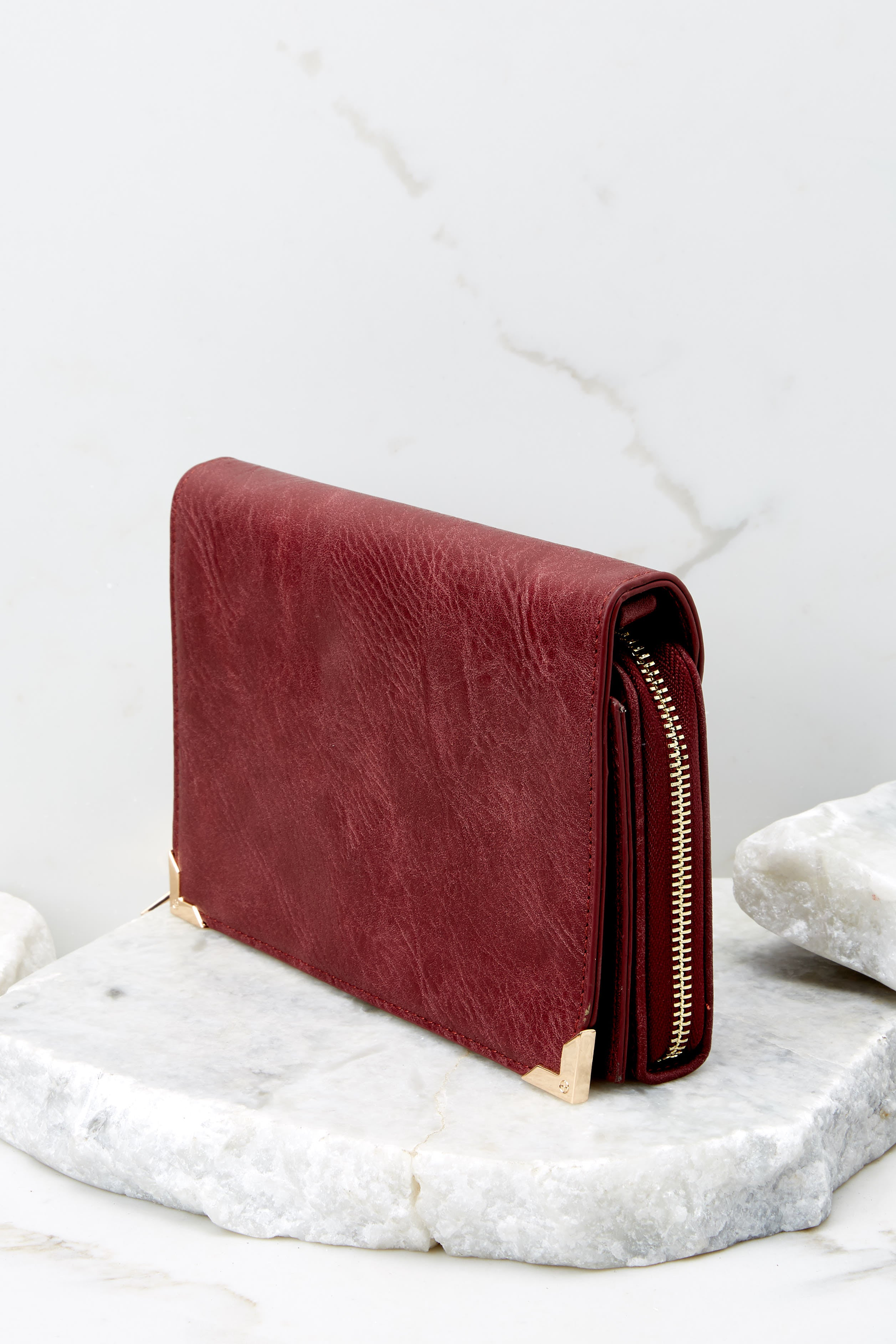 3 Read Into This Burgundy Purse at reddressboutique.com