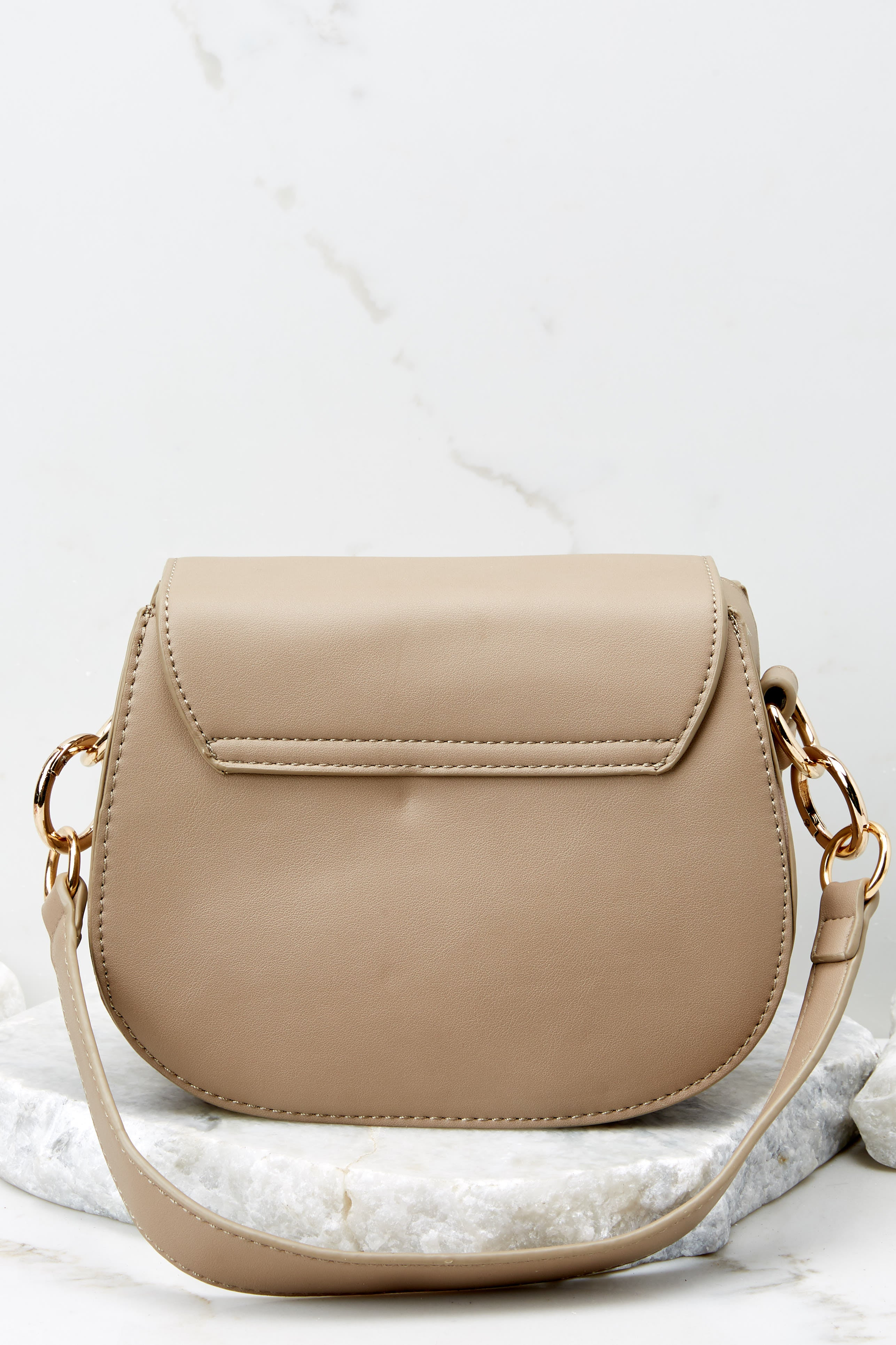 Break Free Taupe Crossbody Purse