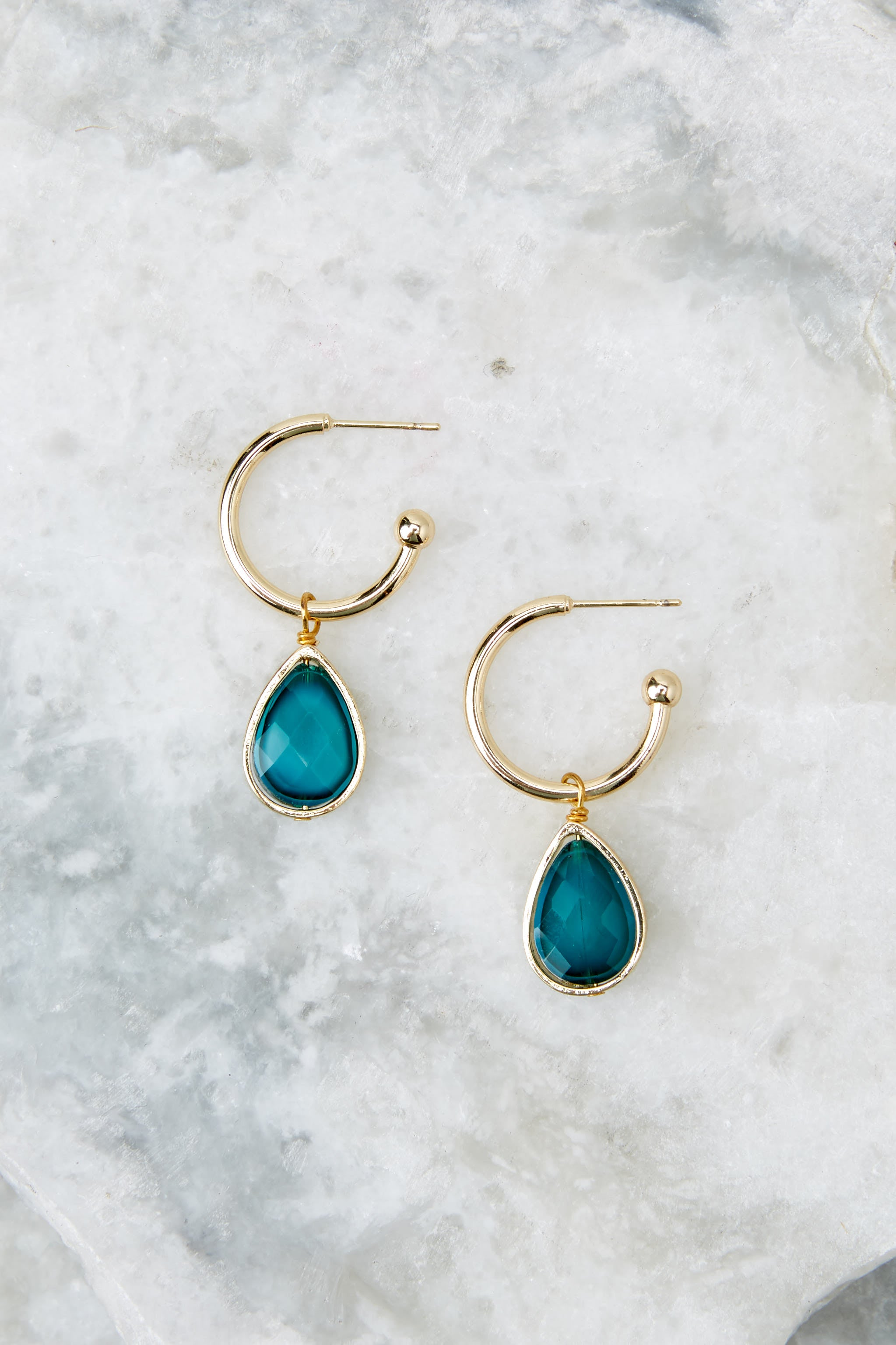 2 Drop Of Truth Blue Earrings at reddressboutique.com