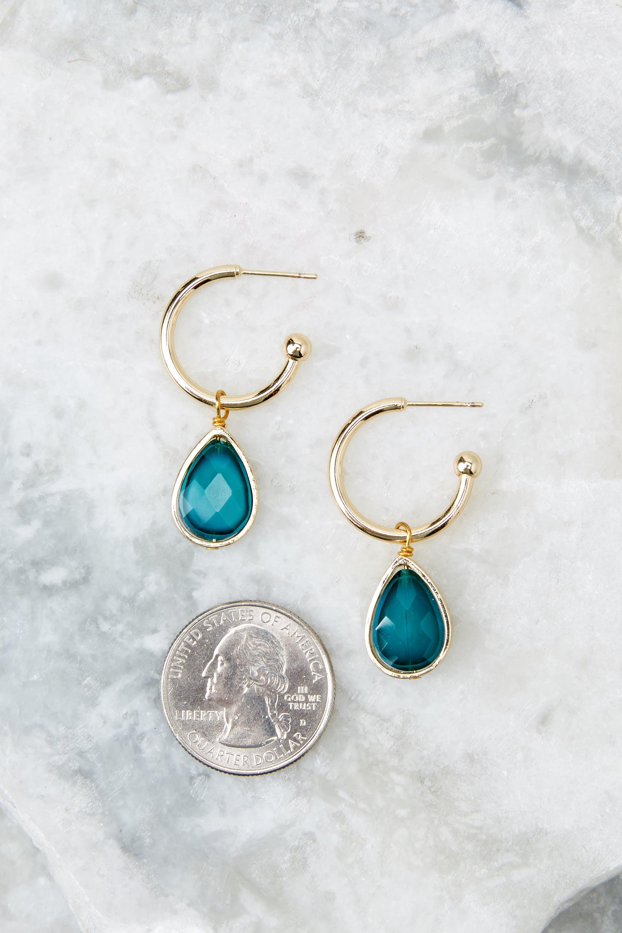 3 Drop Of Truth Blue Earrings at reddressboutique.com