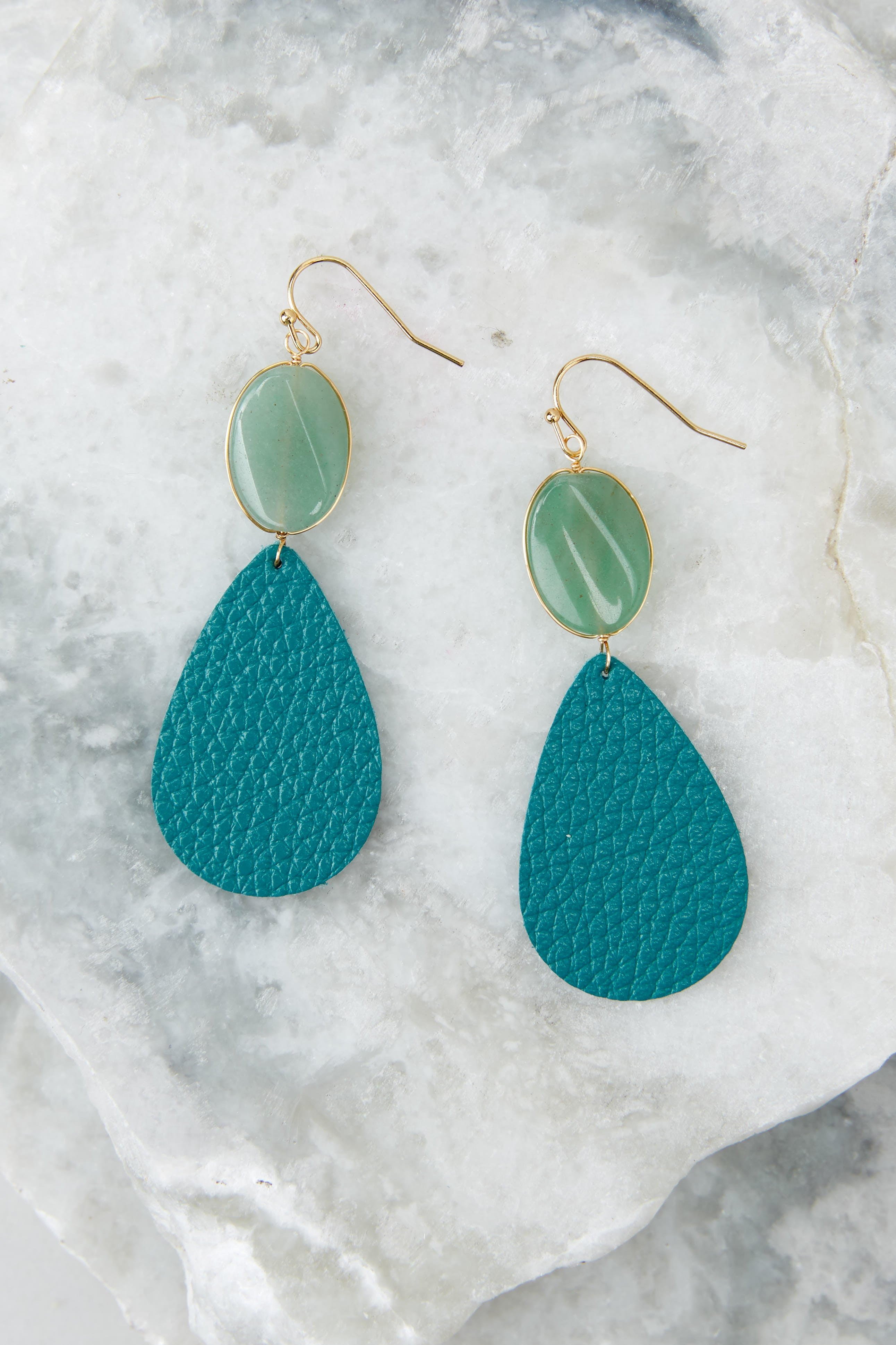 2 Drops Of Color Turquoise Earrings at reddressboutique.com