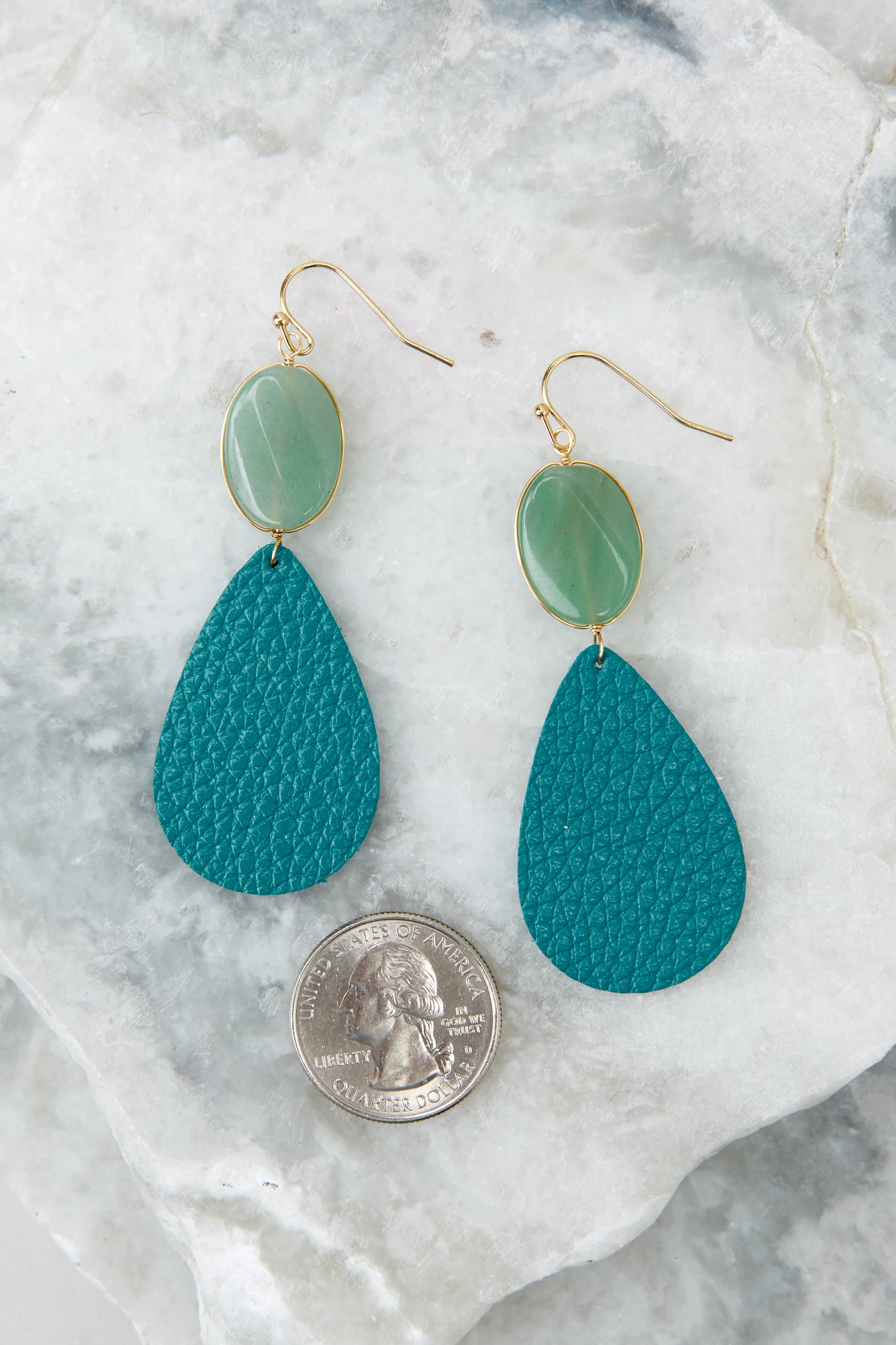 3 Drops Of Color Turquoise Earrings at reddressboutique.com
