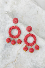 1 Yes Please Rose Pink Earrings at reddress.com