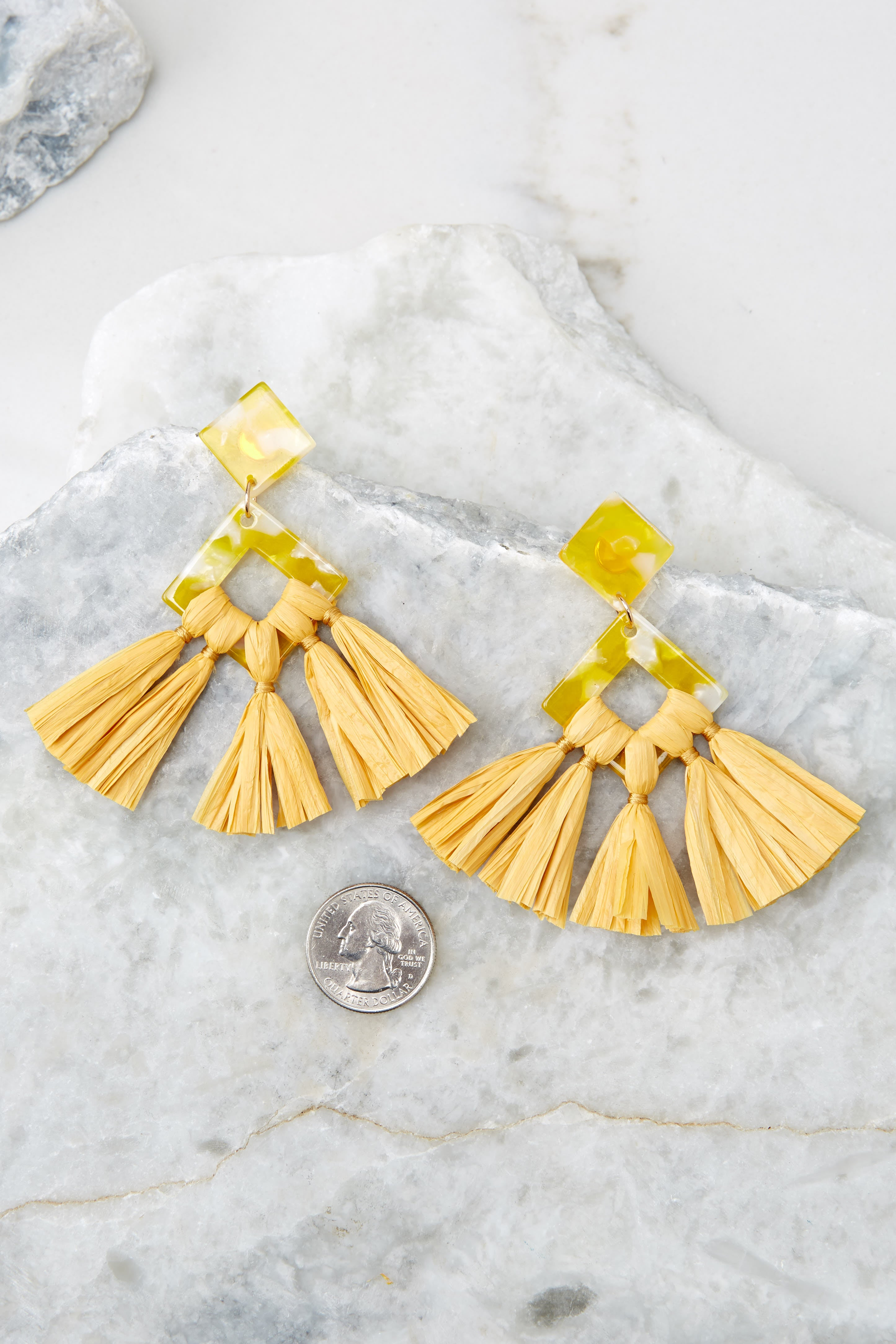 Theory Of Everything Yellow Earrings