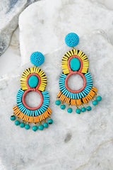 2 Playful Love Multi Statement Earrings at reddressboutique.com