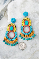 3 Playful Love Multi Statement Earrings at reddressboutique.com