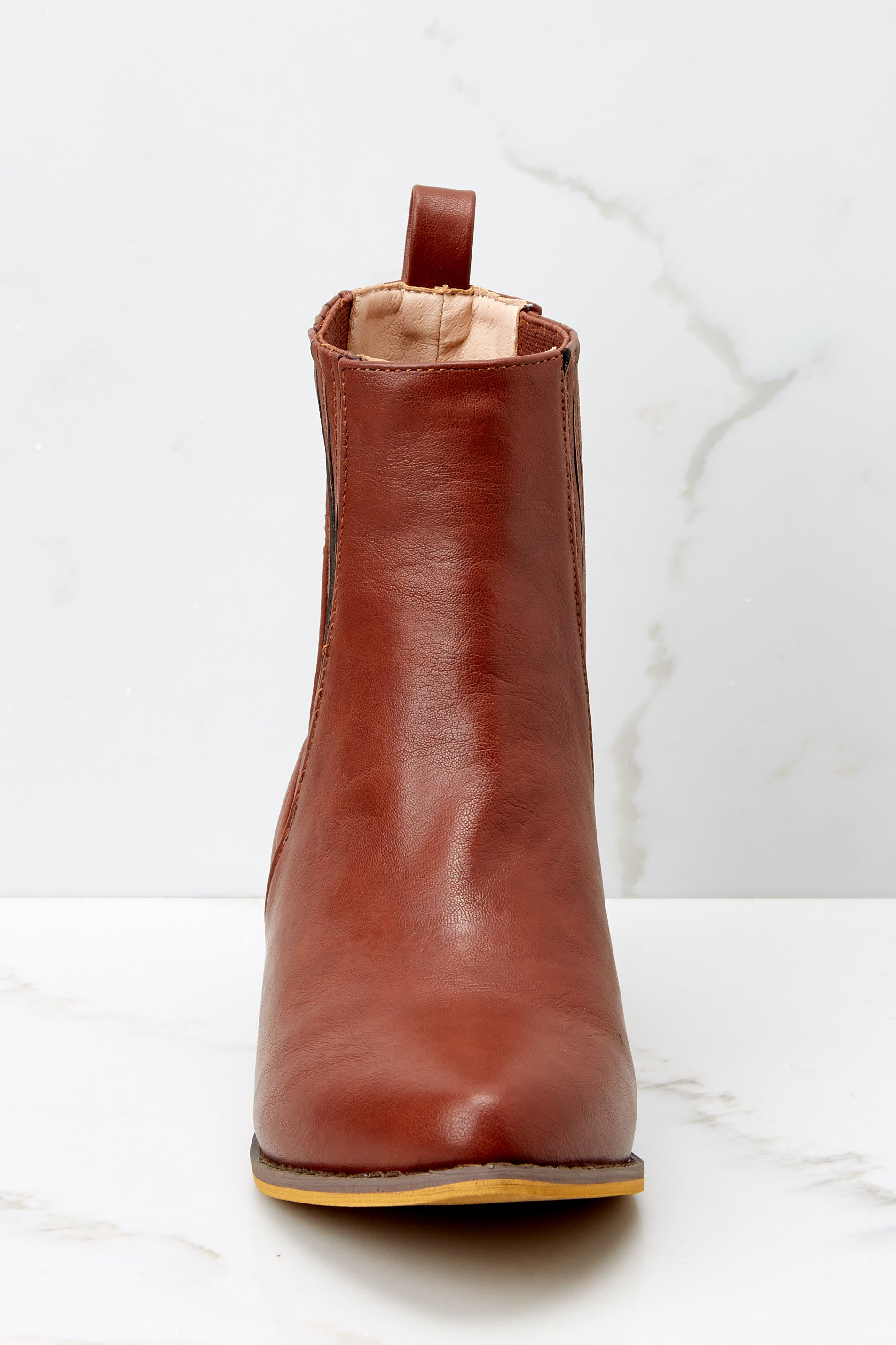 3 Kicking Around Cognac Ankle Boots at reddressboutique.com
