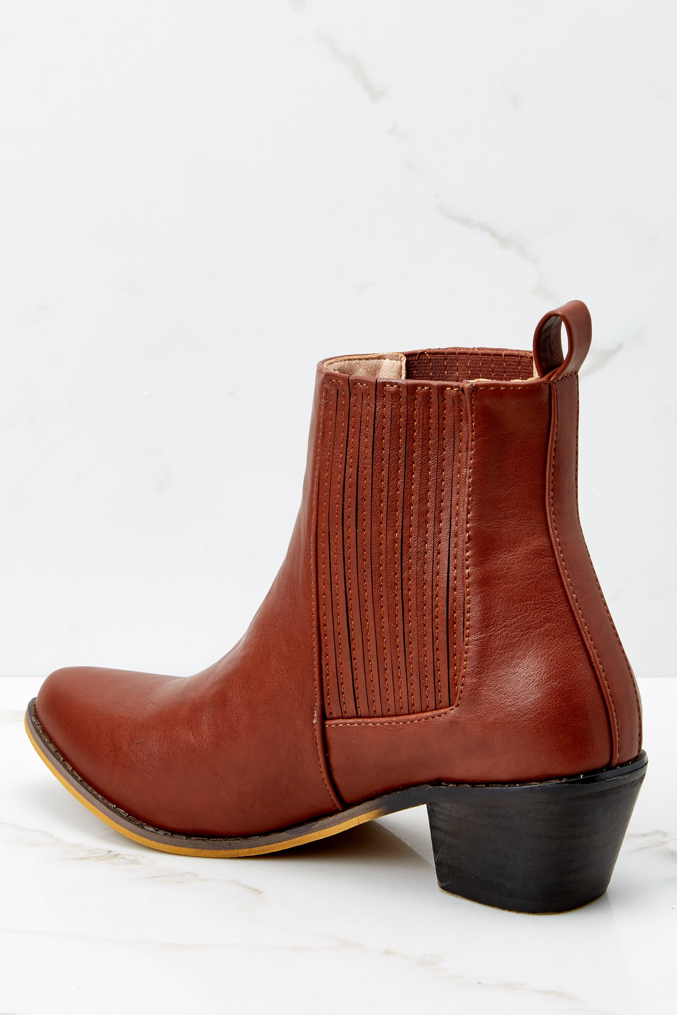 4 Kicking Around Cognac Ankle Boots at reddressboutique.com
