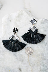 3 Theory Of Everything Black Earrings at reddressboutique.com