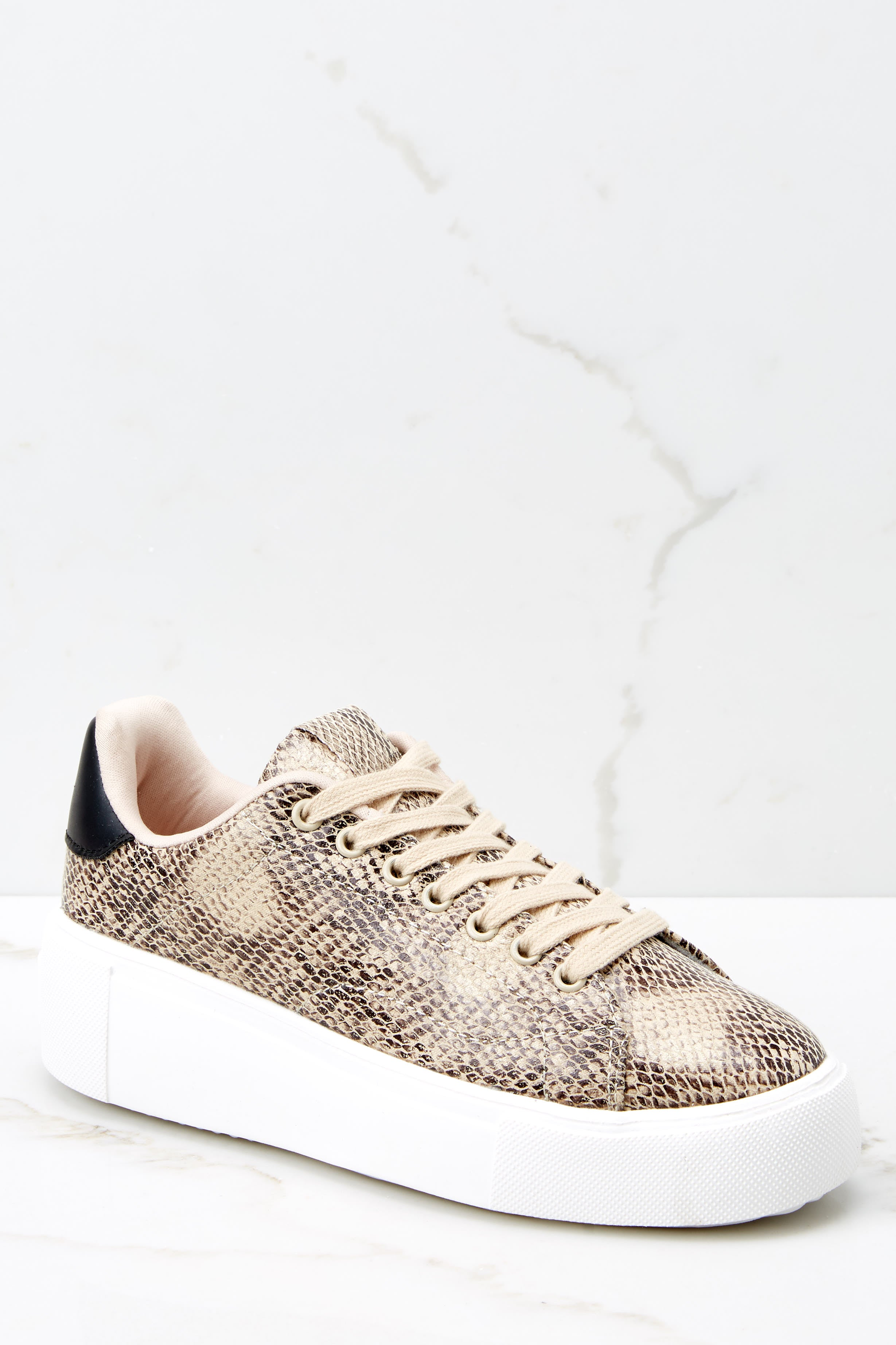 2 Race You There Snake Print Sneakers at reddressboutique.com