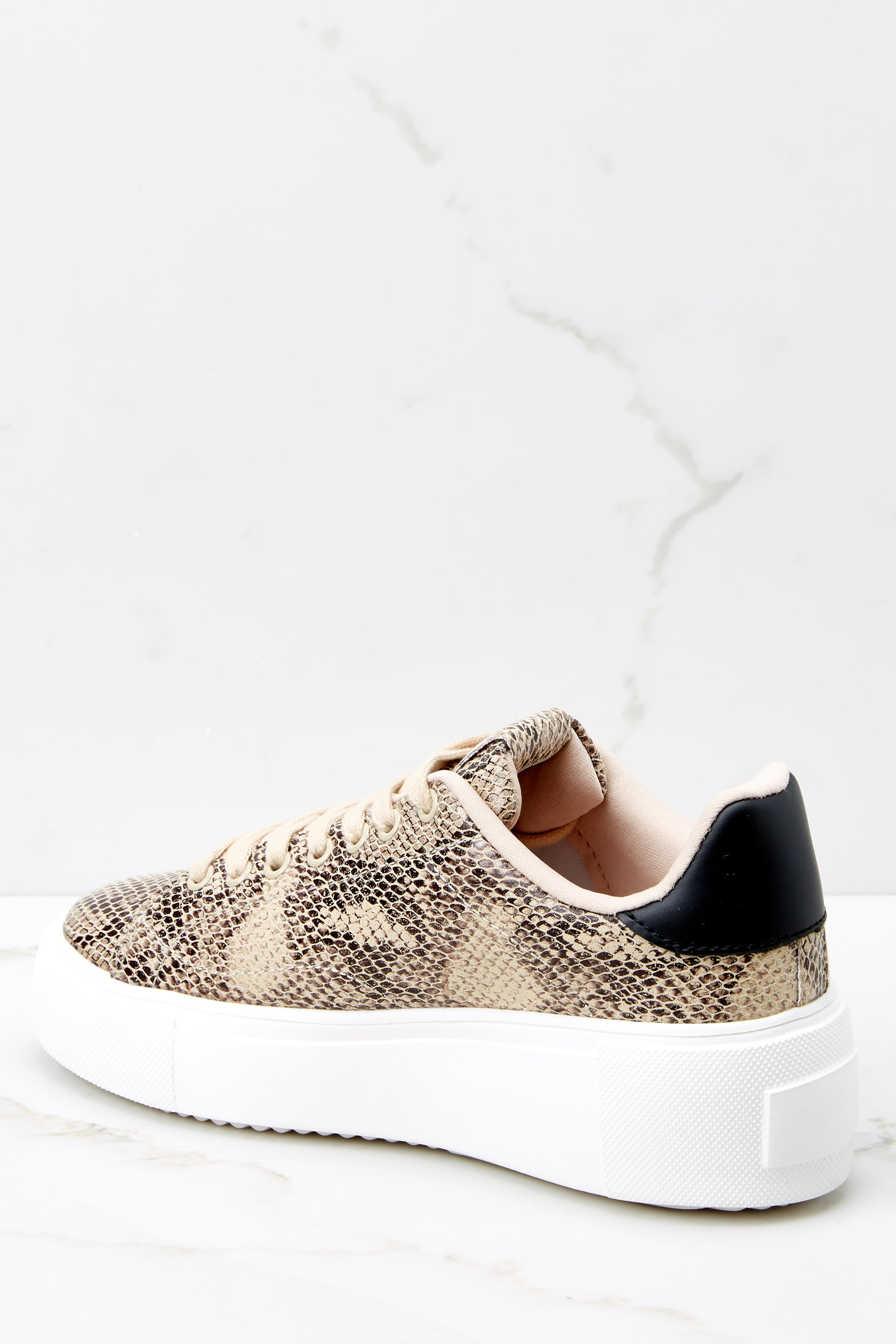 4 Race You There Snake Print Sneakers at reddressboutique.com