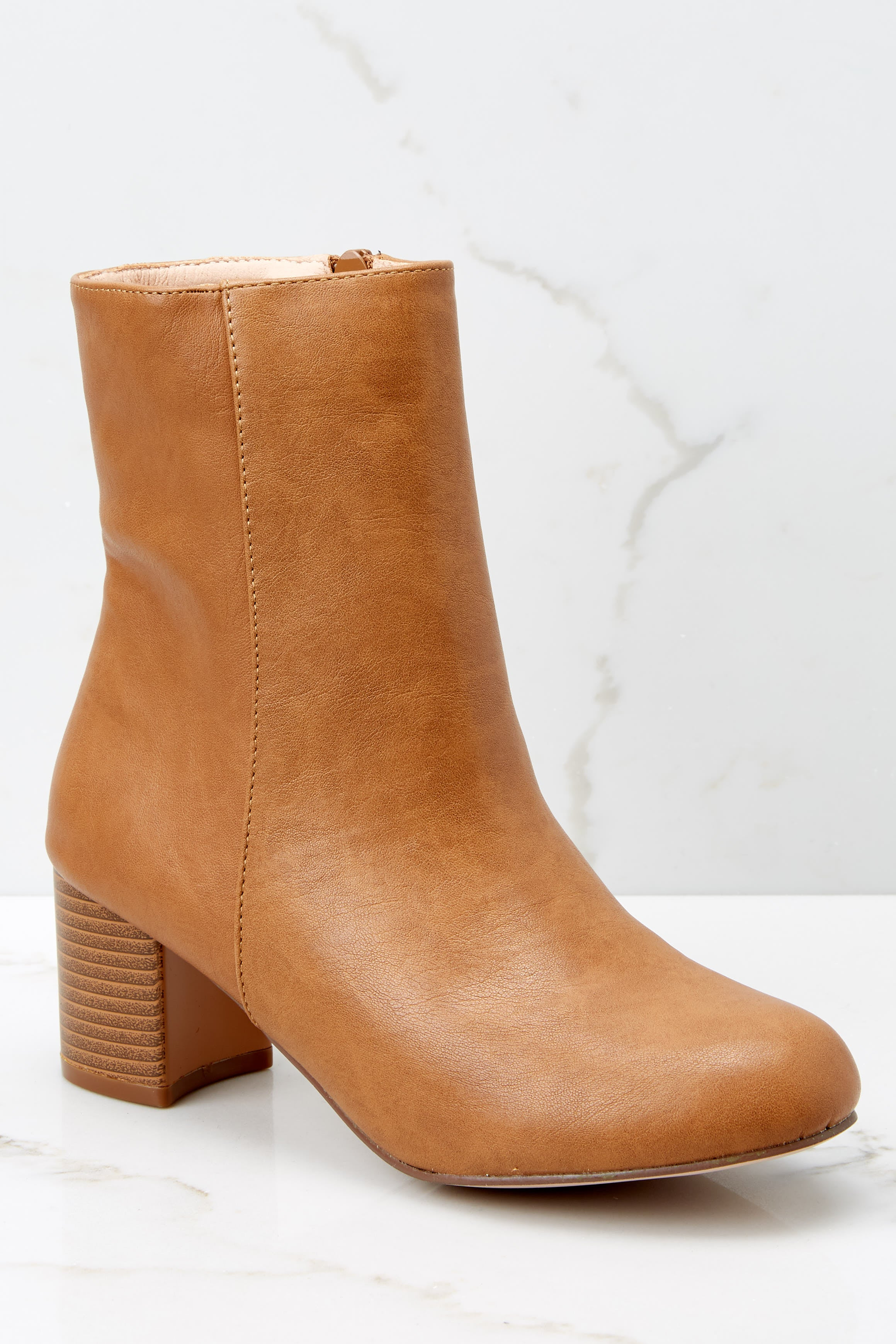3 Narrow Margin Light Brown Ankle Boots at reddressboutique.com
