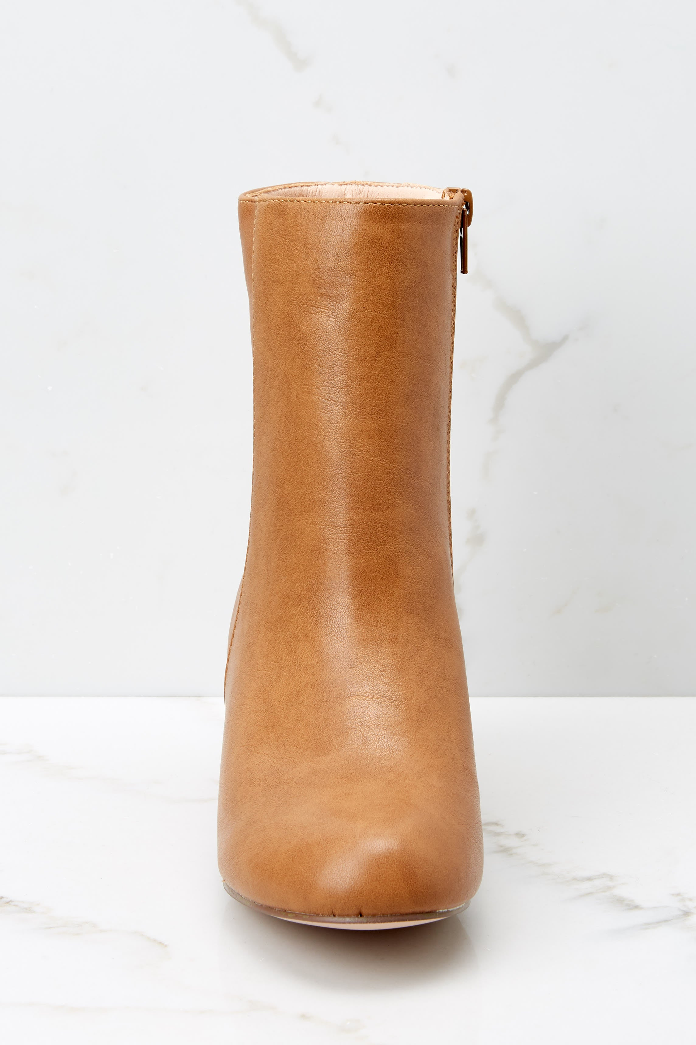 4 Narrow Margin Light Brown Ankle Boots at reddressboutique.com