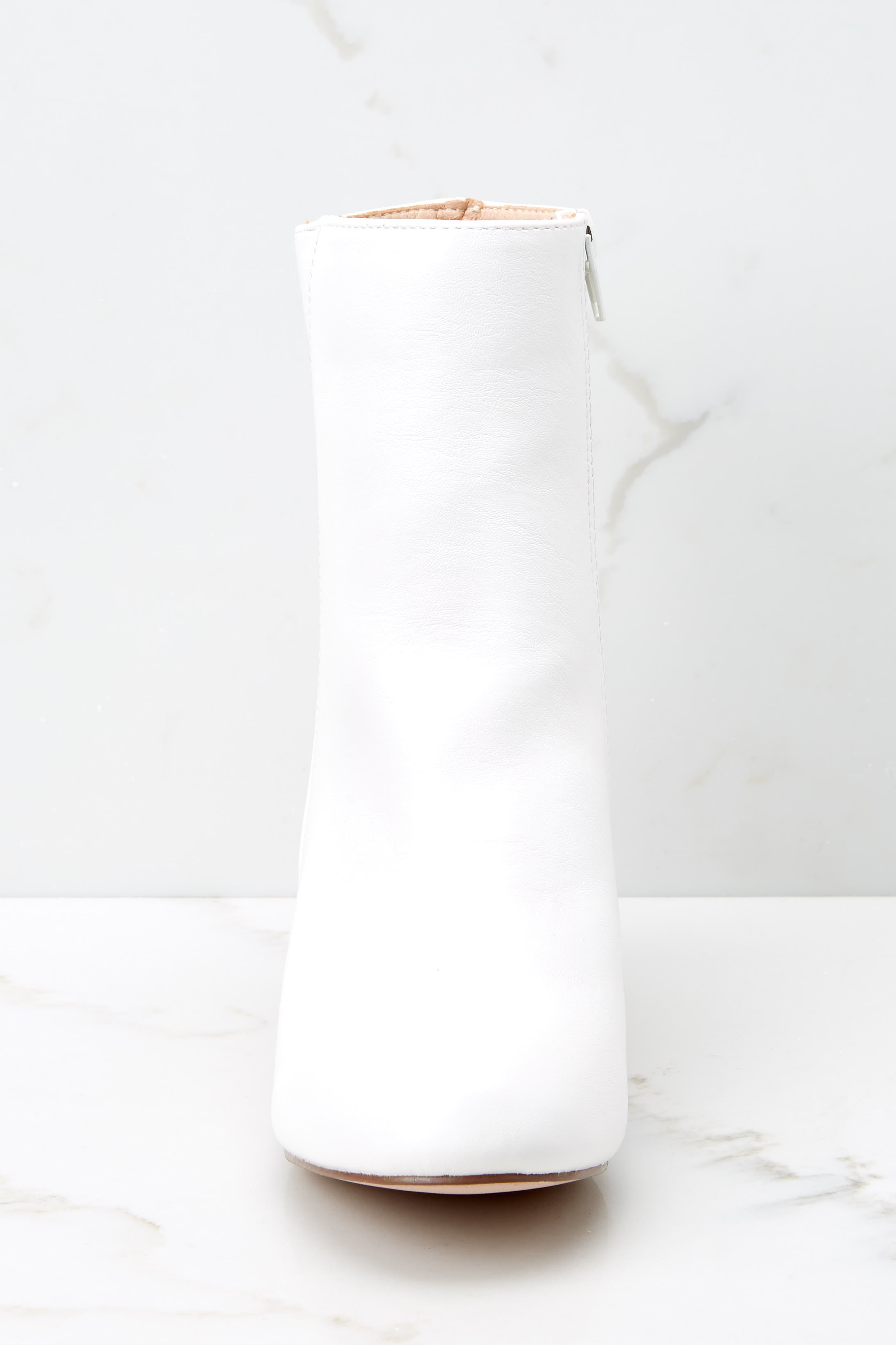 2 Kind Of Iconic White Mid Calf Boots at reddressboutique.com