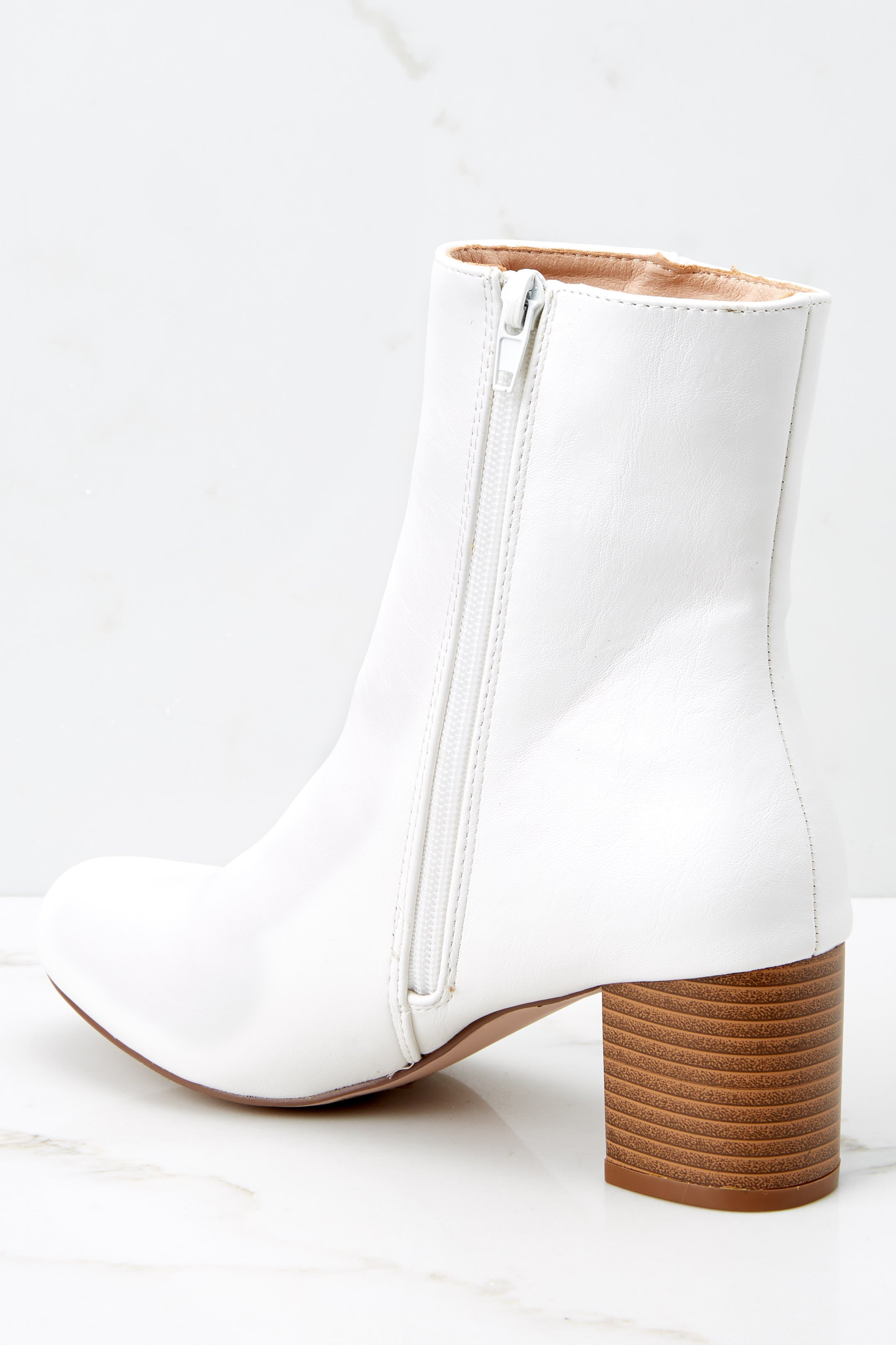 3 Kind Of Iconic White Mid Calf Boots at reddressboutique.com