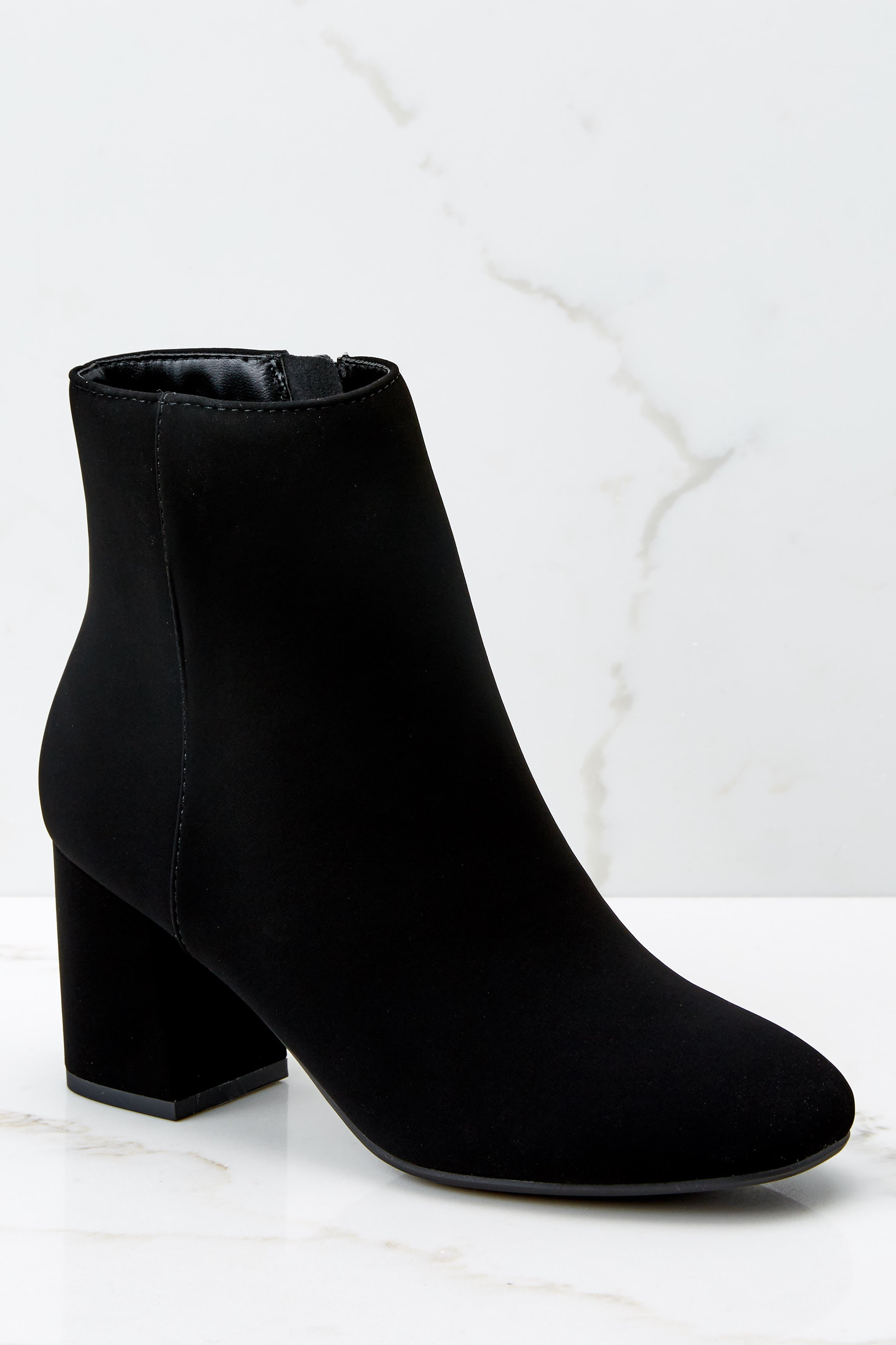1 Must Be Famous Black Ankle Booties at reddressboutique.com