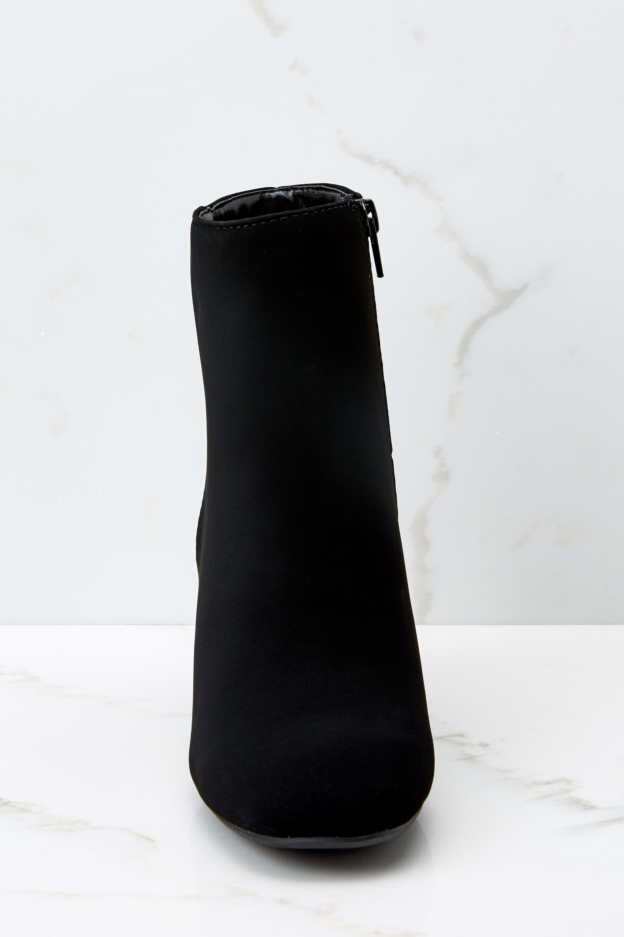 2 Must Be Famous Black Ankle Booties at reddressboutique.com